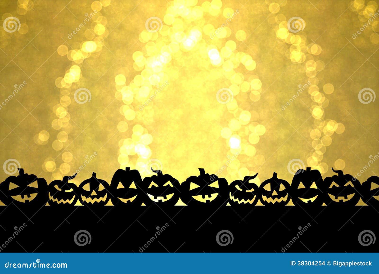 Dia das Bruxas dourado
