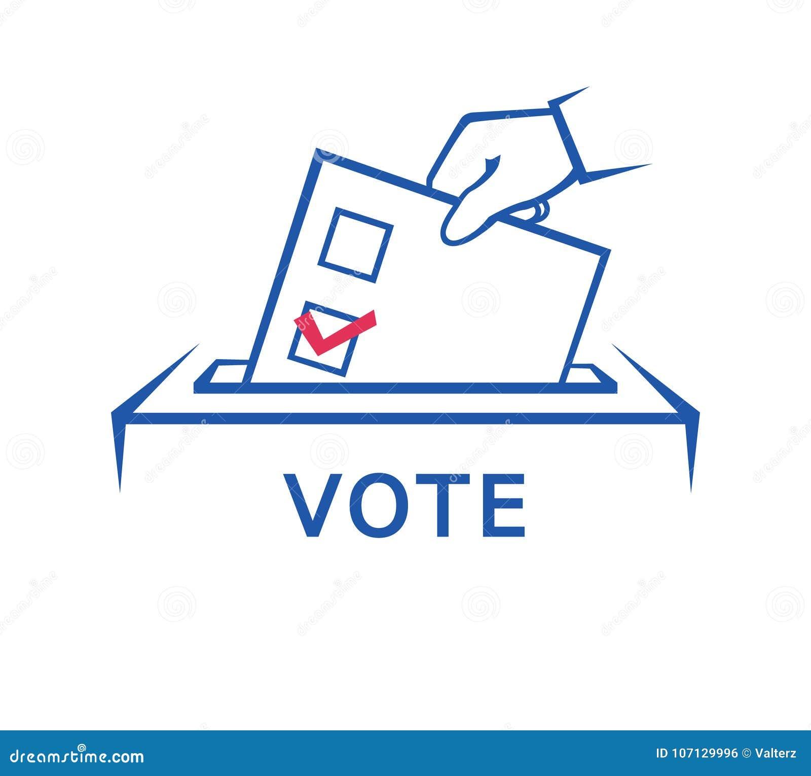 Dia de eleição, mão que guarda o formulário da cédula
