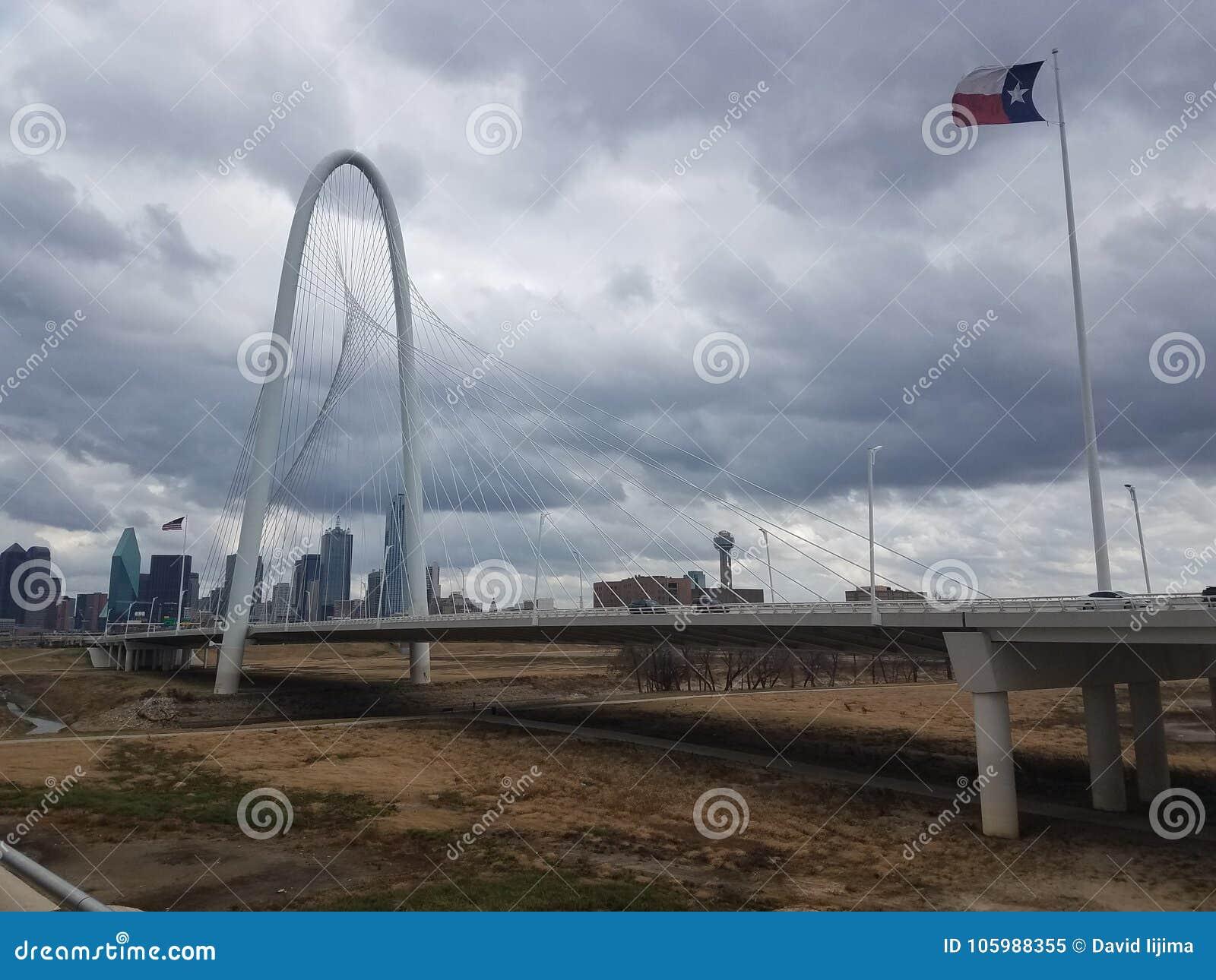 Dia de inverno sombrio de Dallas