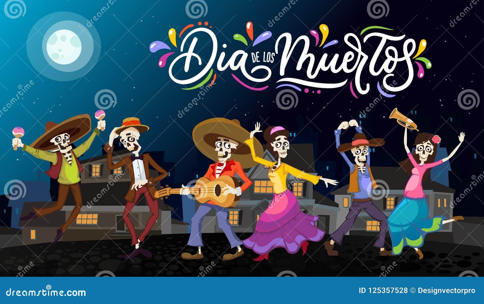 Dia de Los Muertos ευχετήρια κάρτα για την ημέρα των νεκρών Χαιρετισμός β