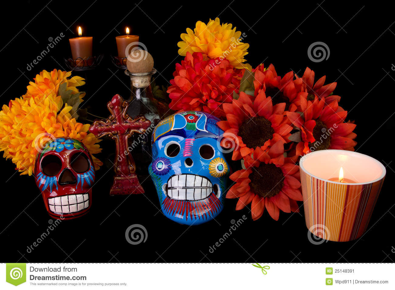 Dia De Los Muertos (Day of the Dead) Altar