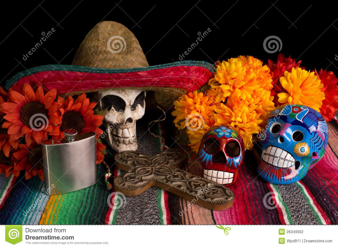 Dia De Los Muertos - Day of The Dead Altar