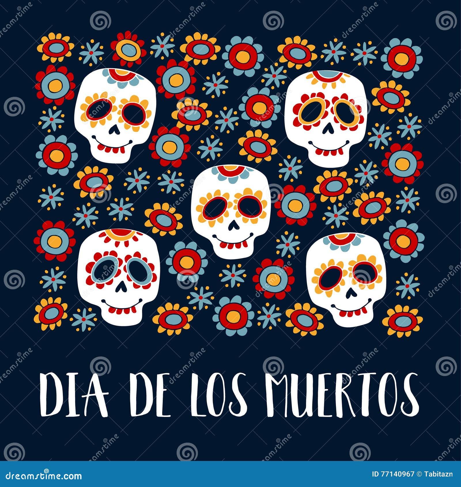 Dia de los muertos greeting card invitation mexican day of the dia de los muertos greeting card invitation mexican day of the dead ornamental m4hsunfo