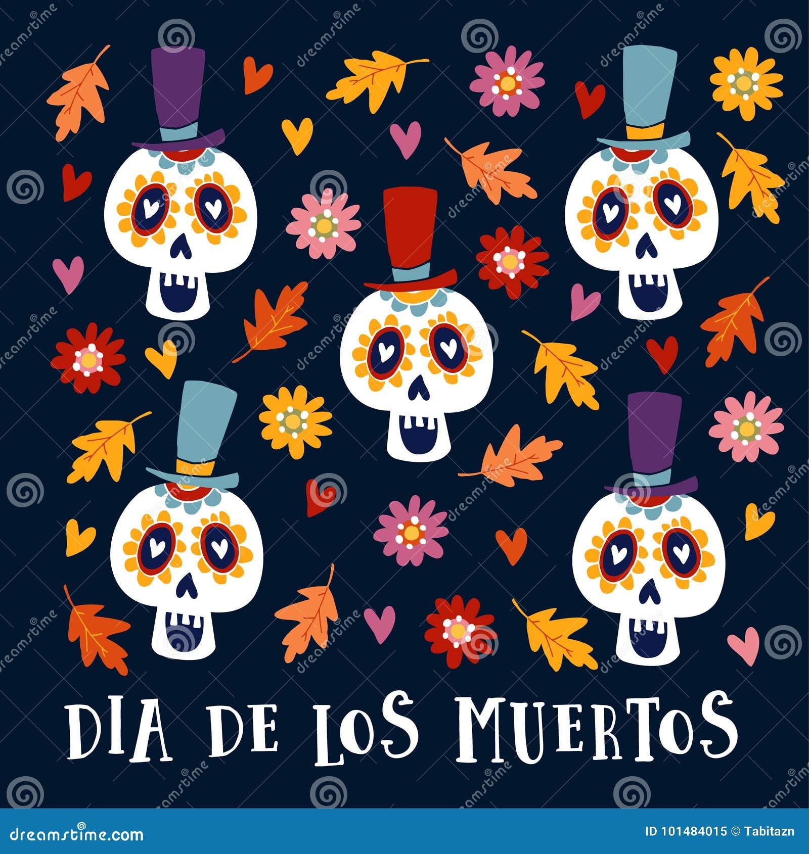 Dia de los muertos greeting card invitation mexican day of the download dia de los muertos greeting card invitation mexican day of the dead m4hsunfo