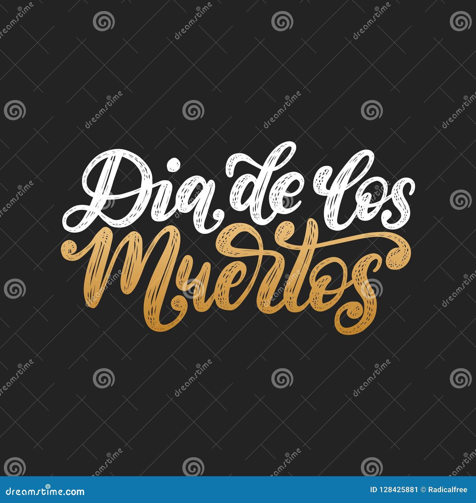 Dia De Los Muertos Tradujo A Partir Del Día Español De La