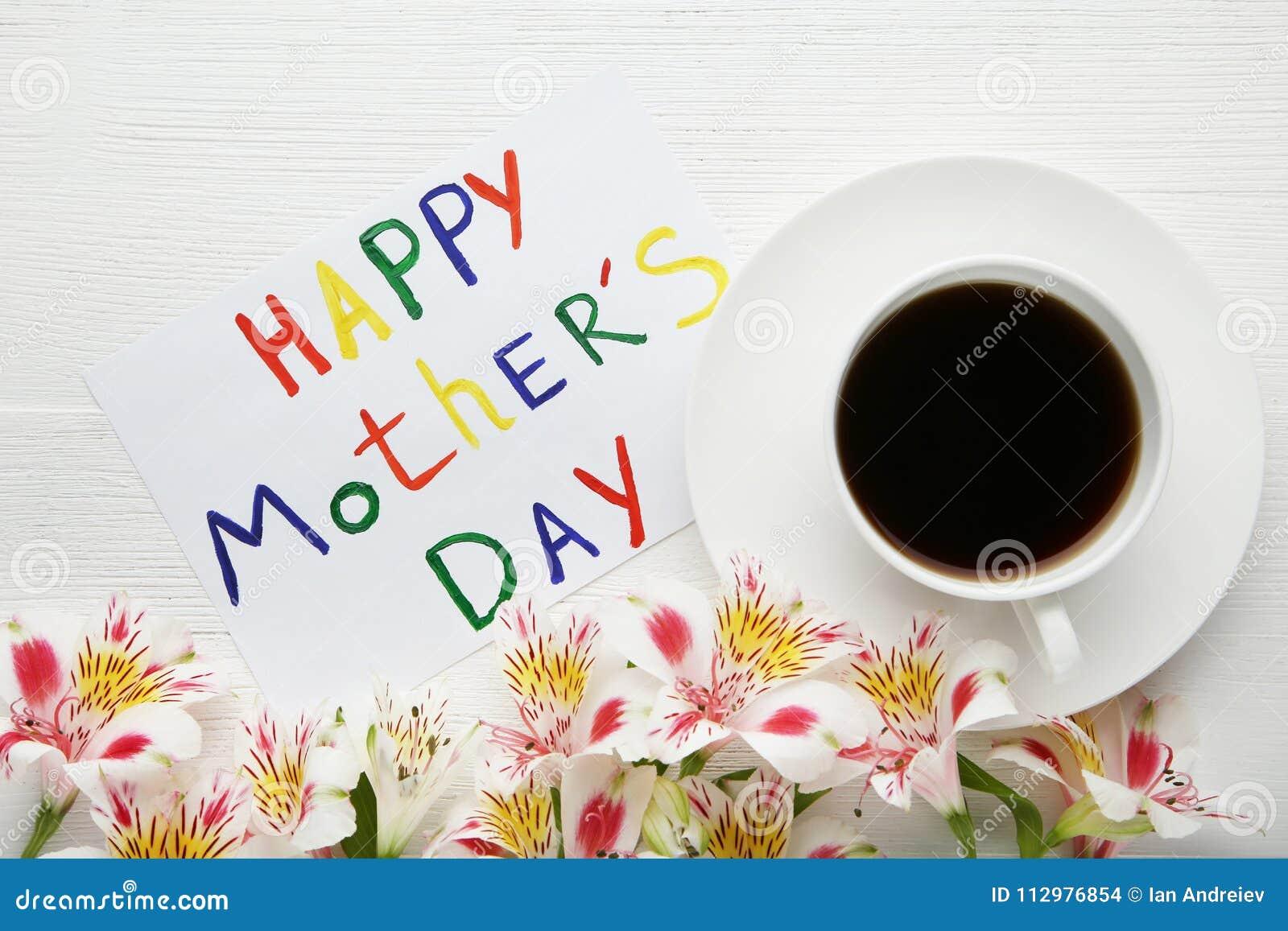 Dia de mães feliz do cartão