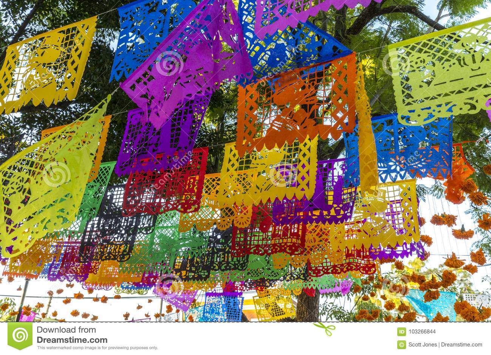 Download Dia de Muertos Decorations stock photo. Image of decorations - 103266844