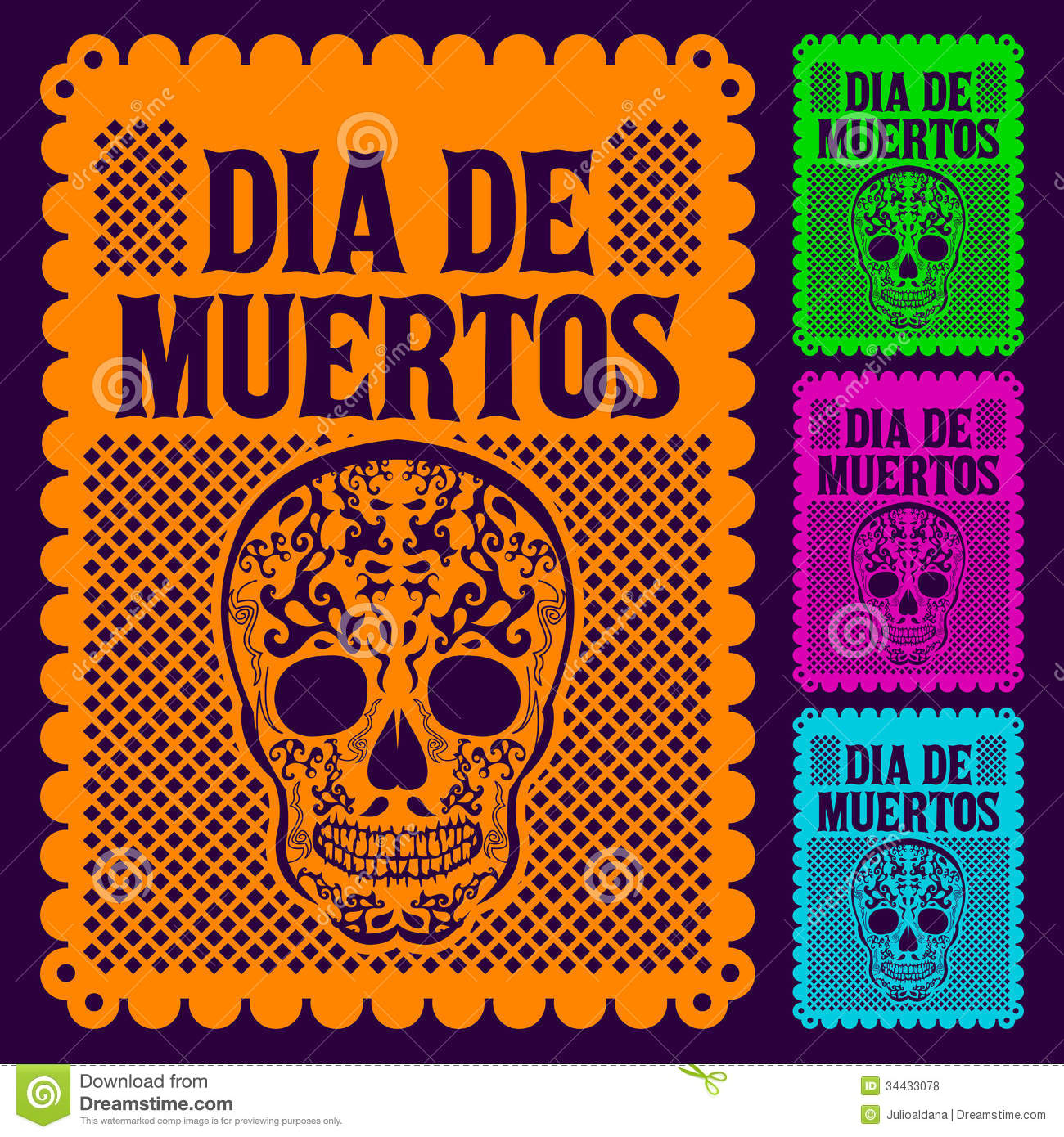 Dia de Muertos - Mexican Day of the death set