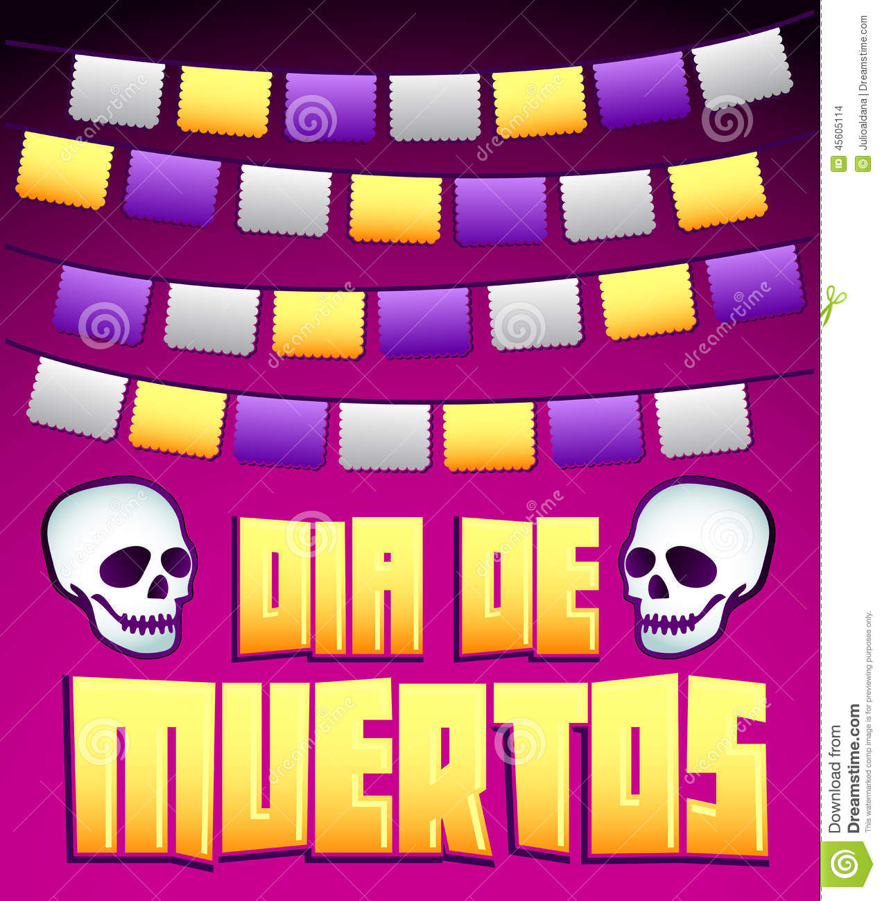 Dia de muertos mexican day of the death spanish text v for A text decoration