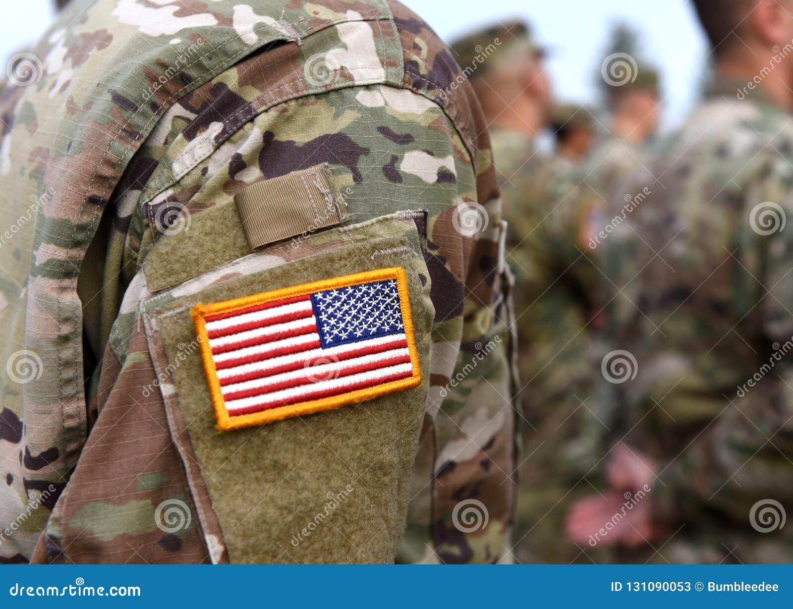 Dia de veteranos Os soldados dos E.U. armam-se Exército dos EUA Tropas dos E.U.
