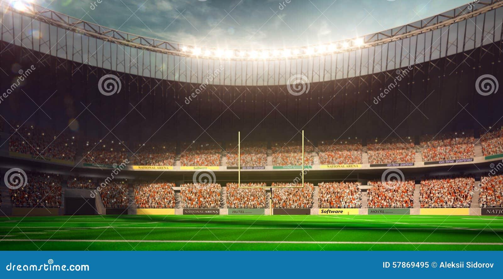 Dia do estádio da arena do futebol