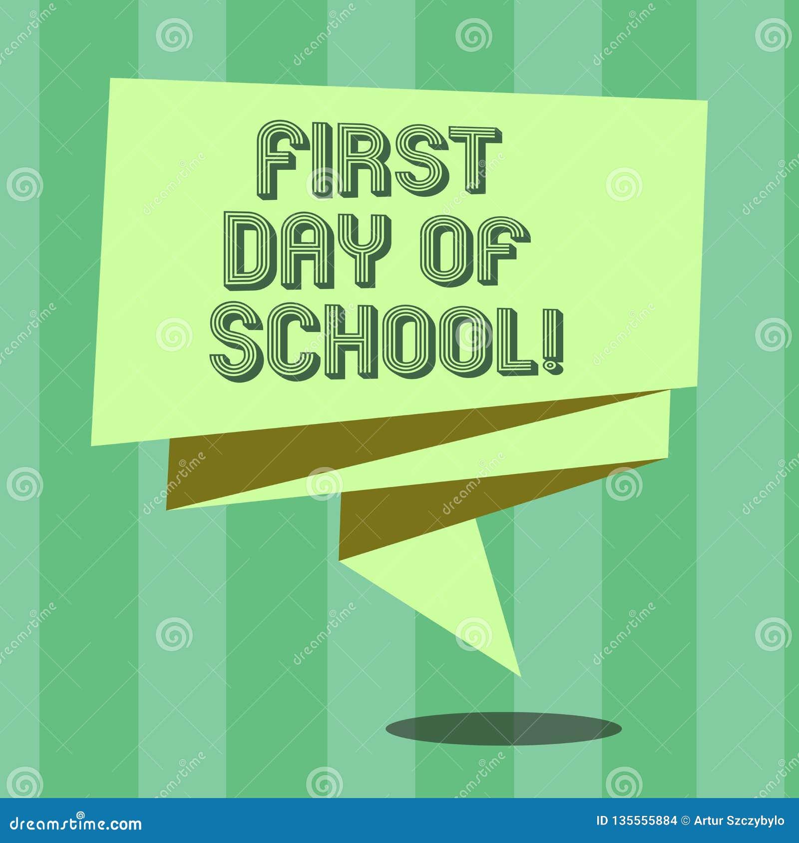 Dia Do Texto Da Escrita Primeiro Da Escola O Conceito Que