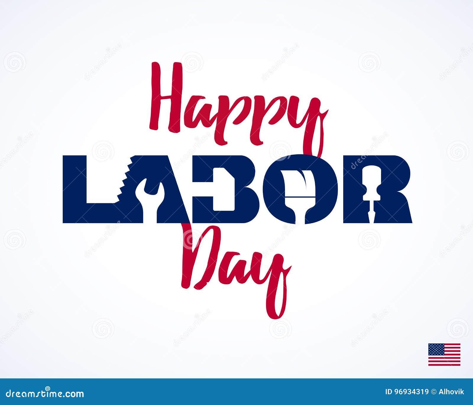 Dia do Trabalhador feliz, cartão