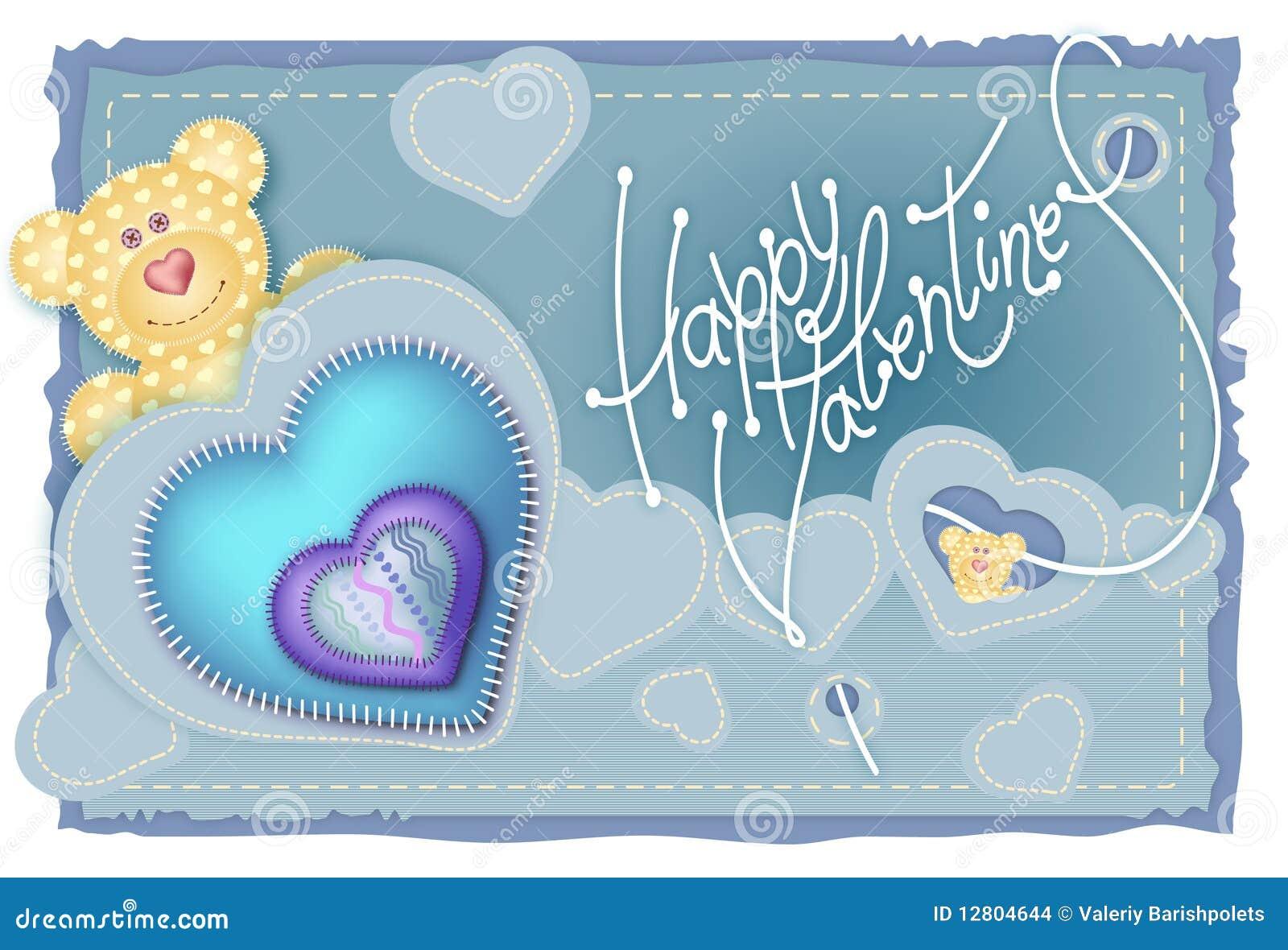 Dia do Valentim do cartão