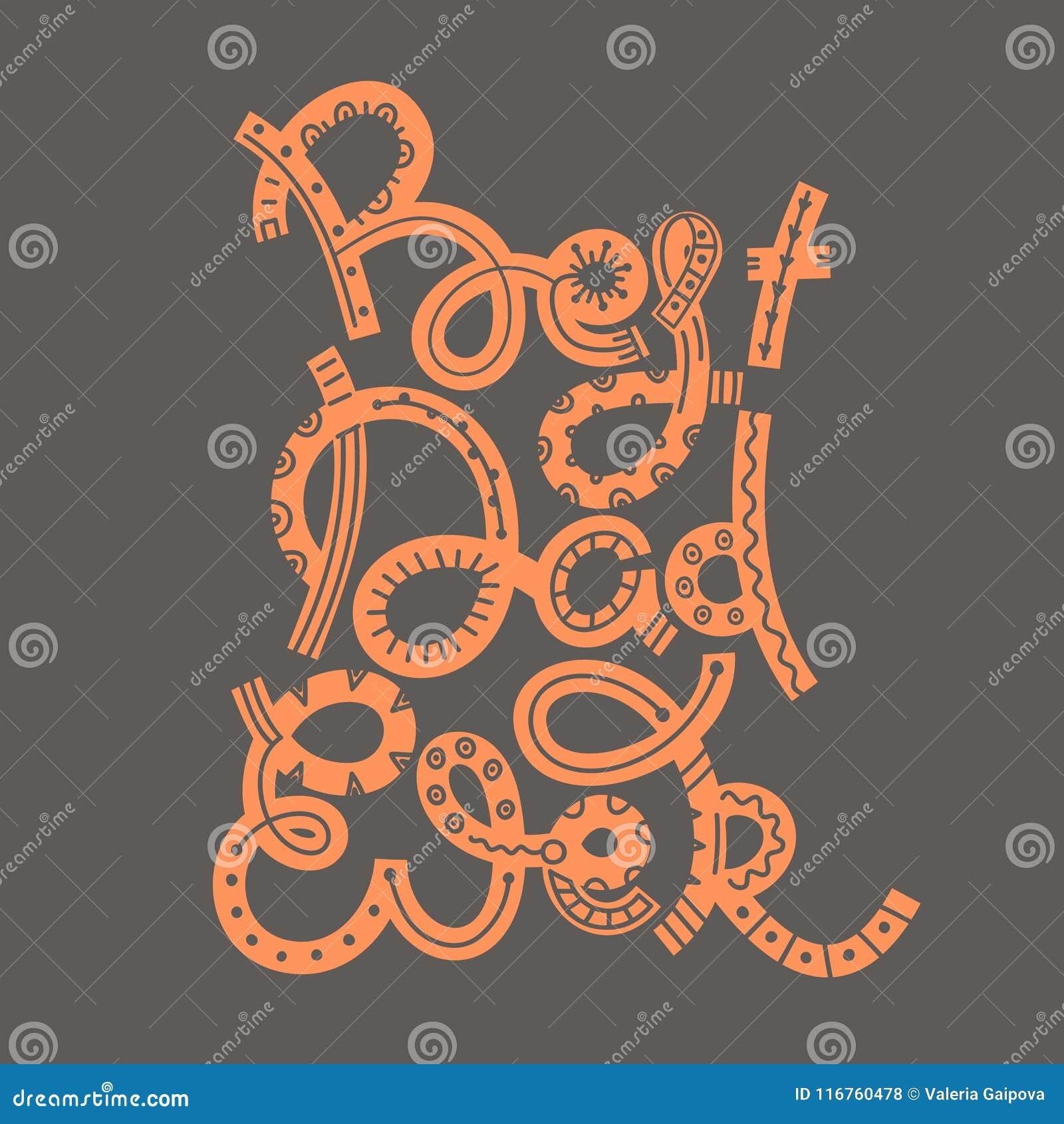 Dia feliz do ` s do pai O melhor paizinho nunca Rotulação tirada mão Cadeira de plataforma na praia em Brigghton Projeto creativo