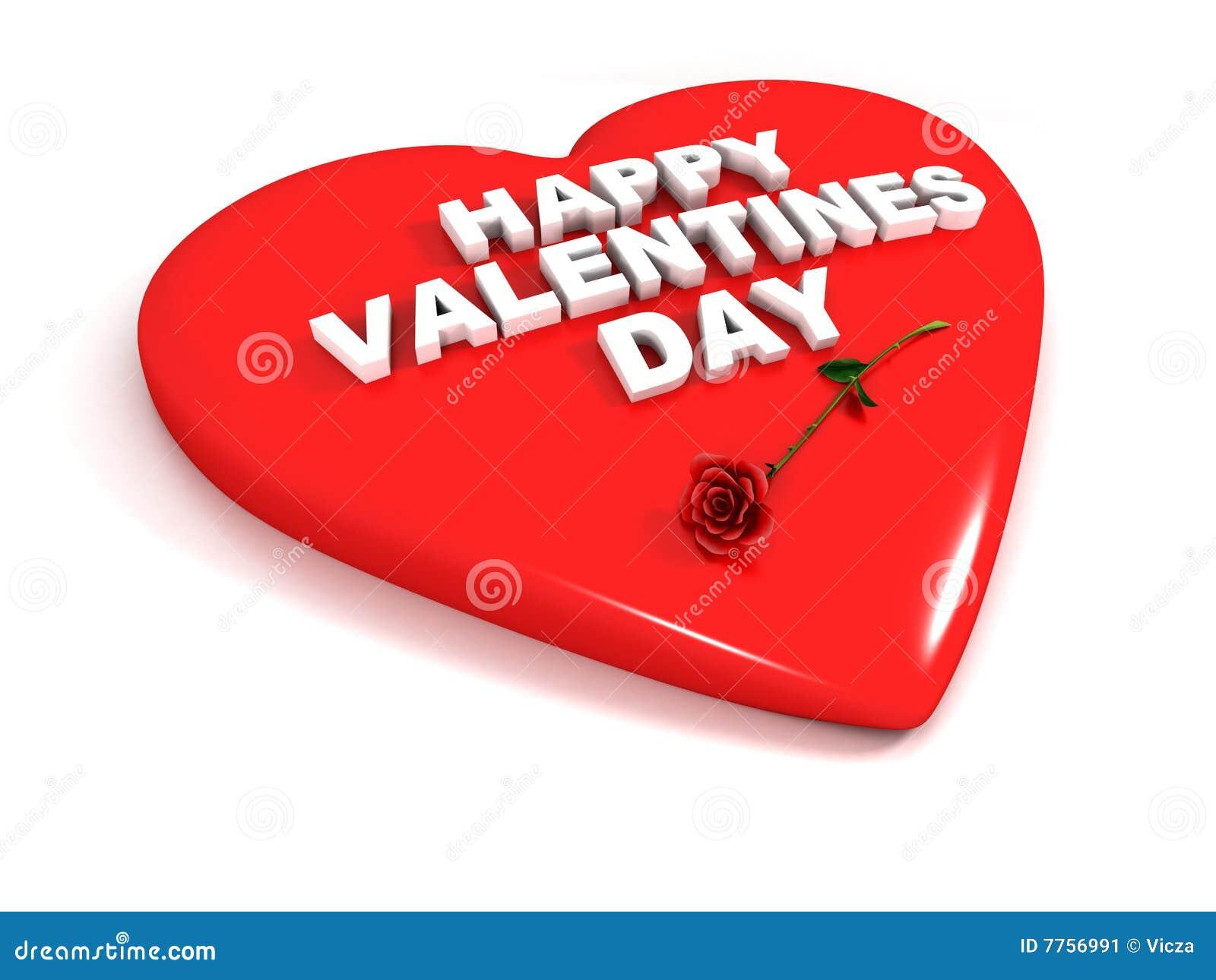 Dia feliz dos Valentim - o coração vermelho e levantou-se