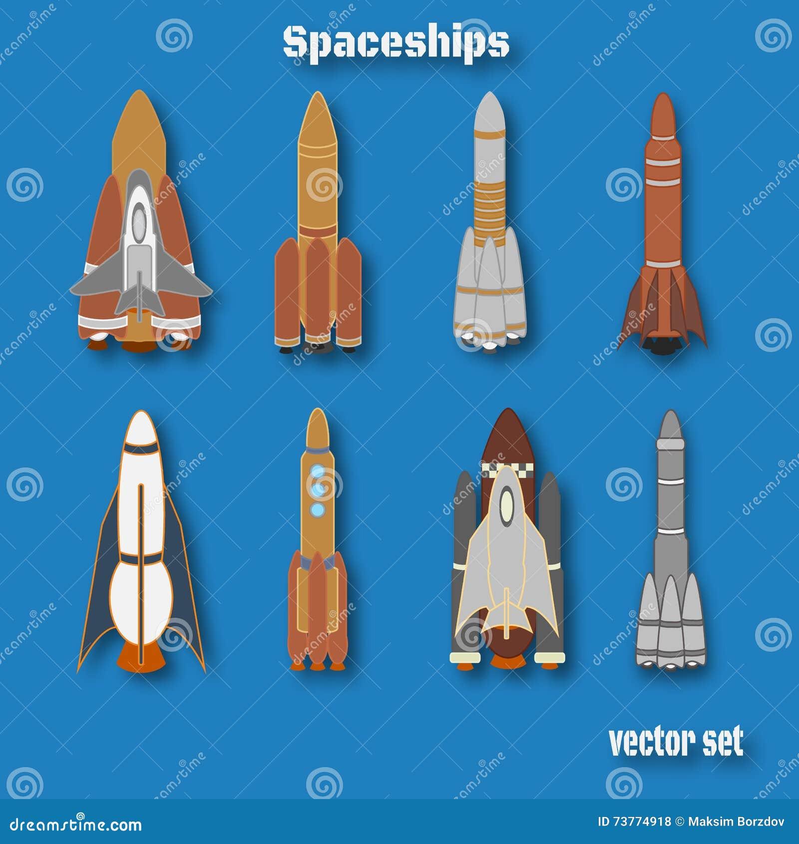 Dia internacional do voo espacial humano Grupo de cor da nave espacial
