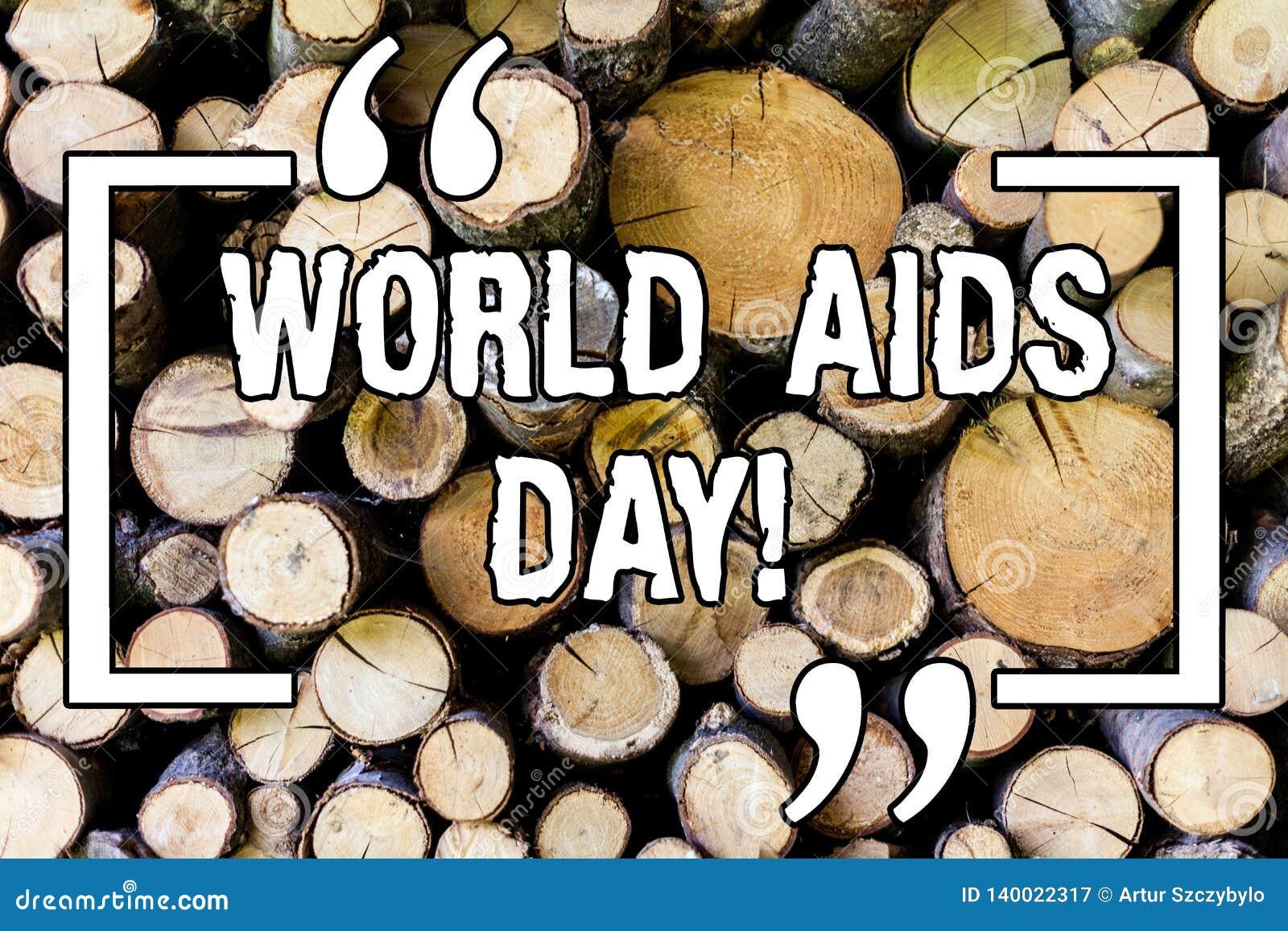 Dia Mundial do Sida do texto da escrita Conceito significado o 1º de dezembro dedicado a aumentar a conscientização do SIDA de ma