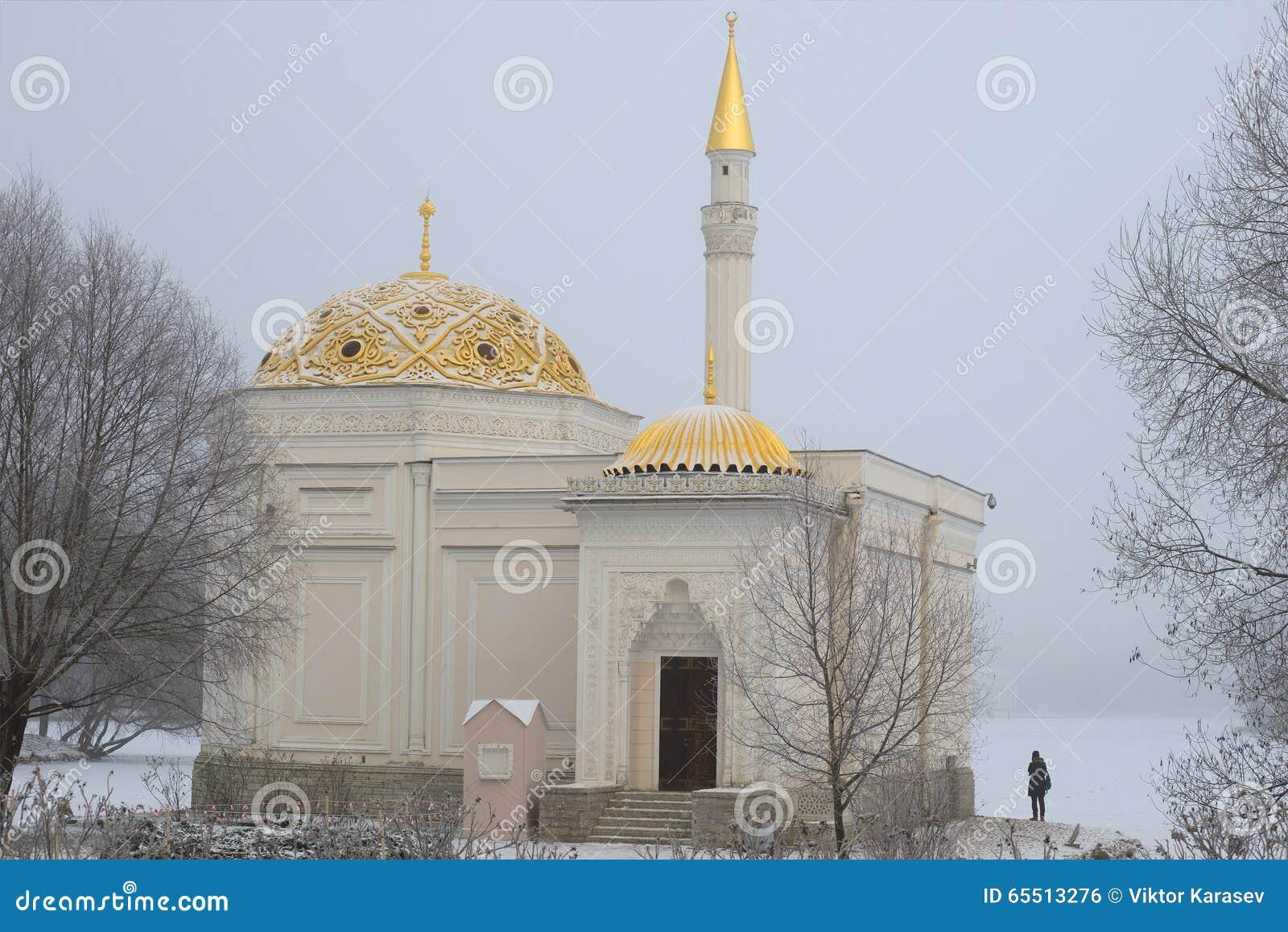 Dia nevoento de novembro do close up do banho turco do pavilhão