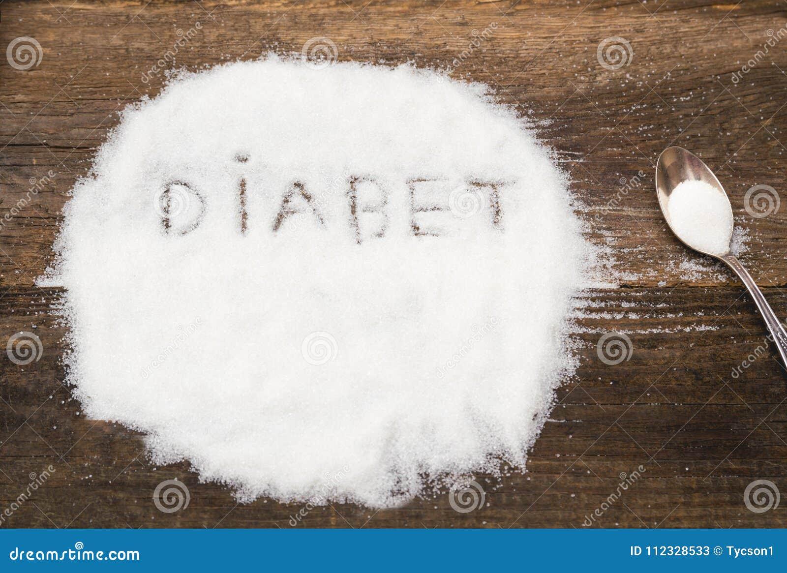 Diabet tecken som göras av grynigt socker