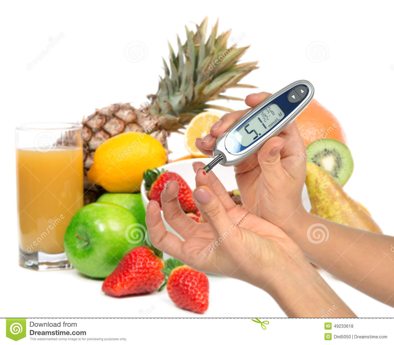 diabetes concept hand with syringe injector and insulin