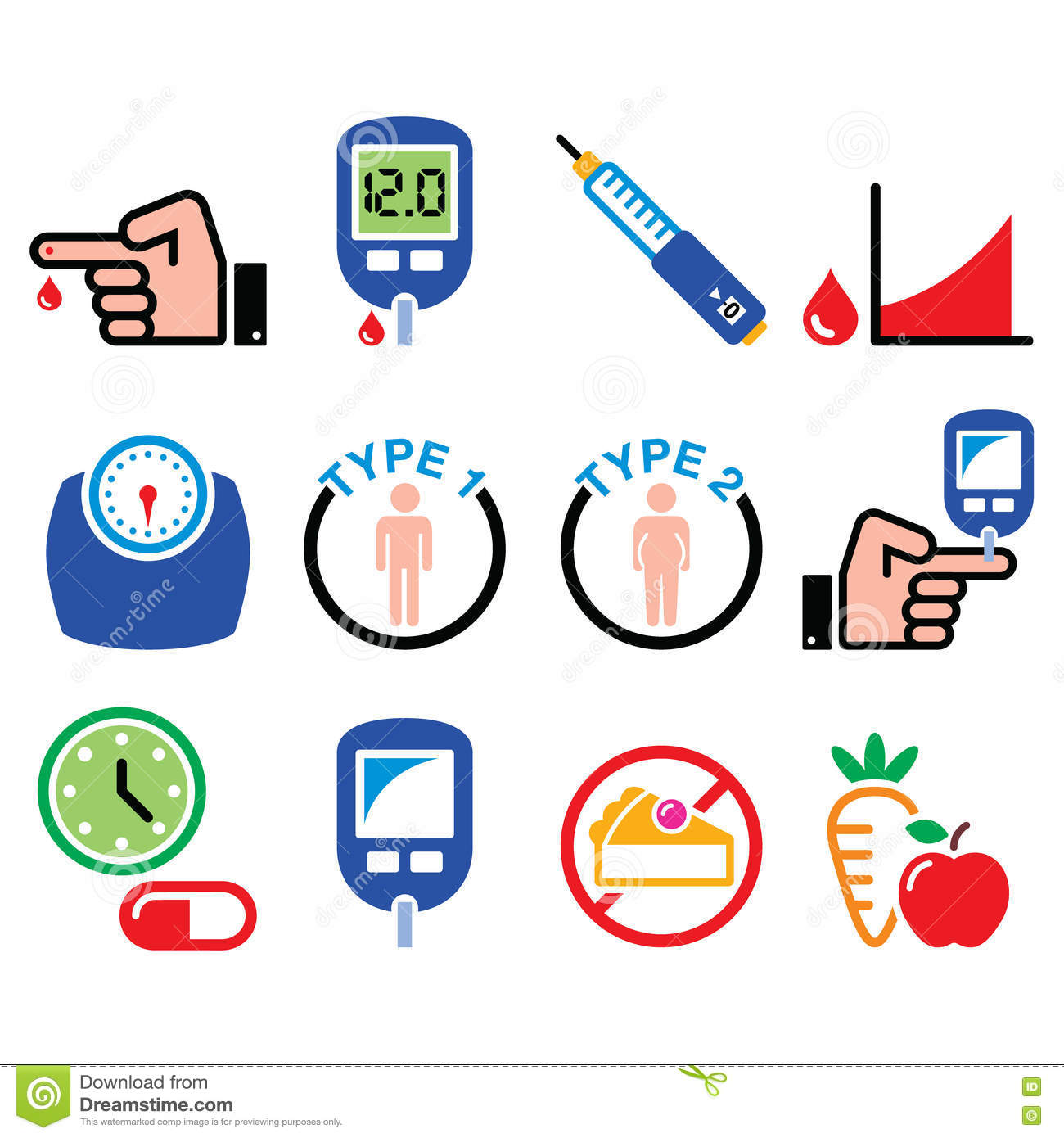what is type 1 diabetes clip art