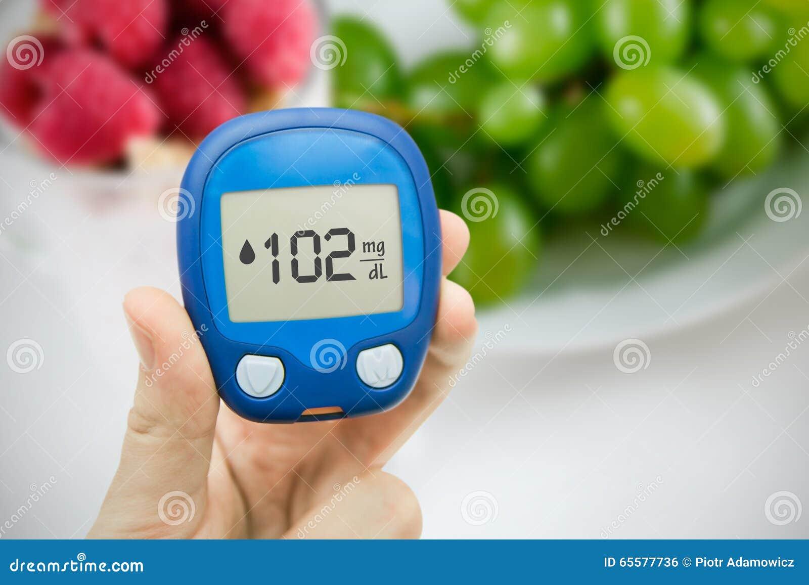 Diabetes que faz o teste nivelado da glicose