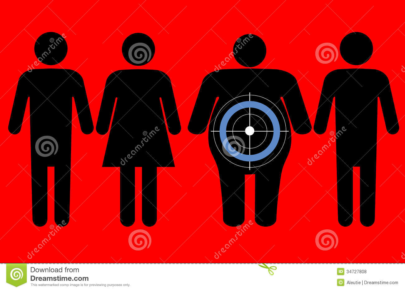 Diabetes targeting overweight people royalty free stock photos image