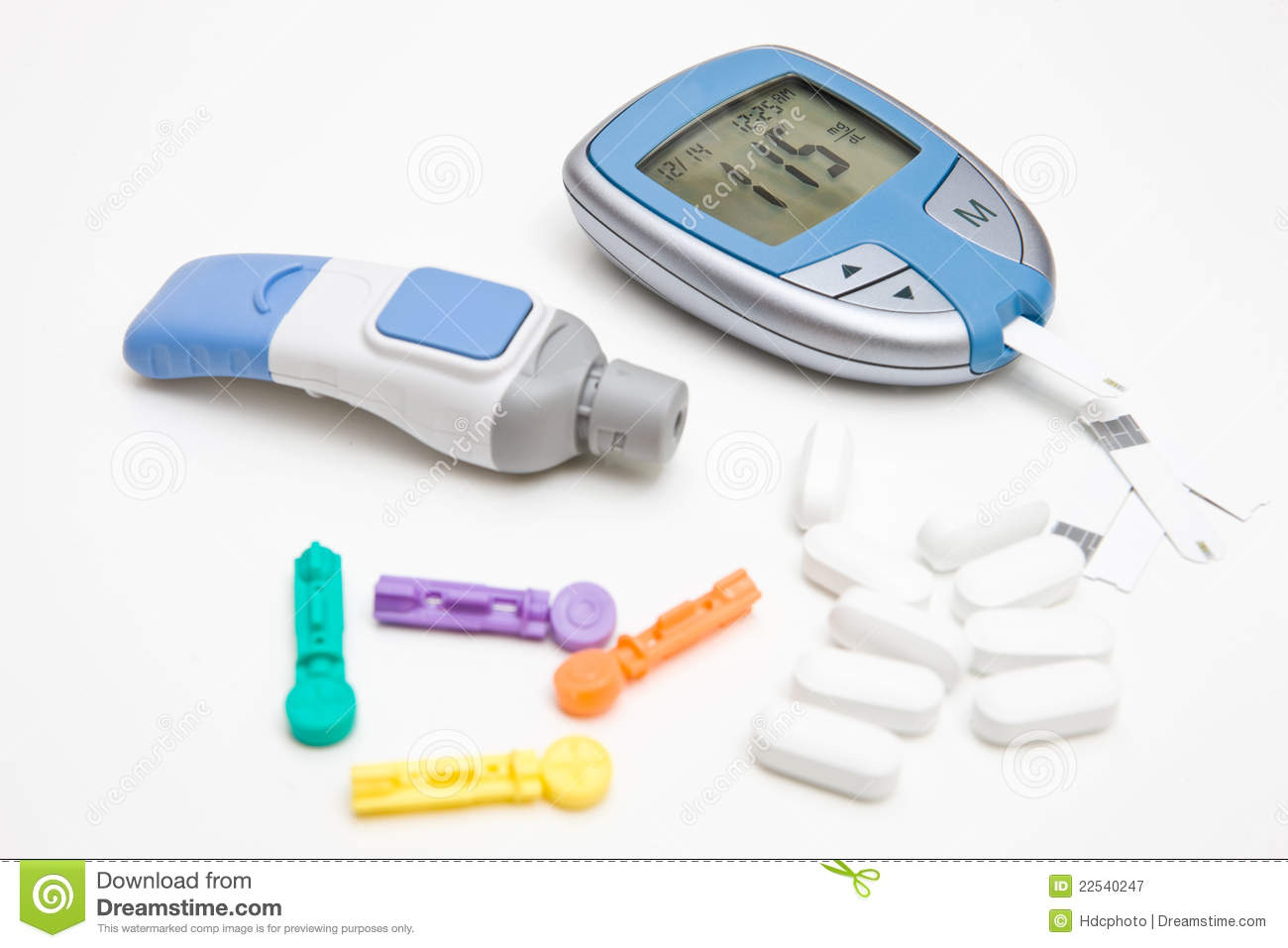 Diabetic Supplies Royalty Free Stock Photography - Image: 22540247