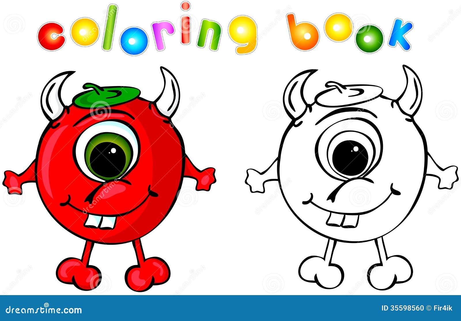 Diable de livre de coloriage illustration de vecteur illustration du adorable animal 35598560 - Coloriage de diable ...