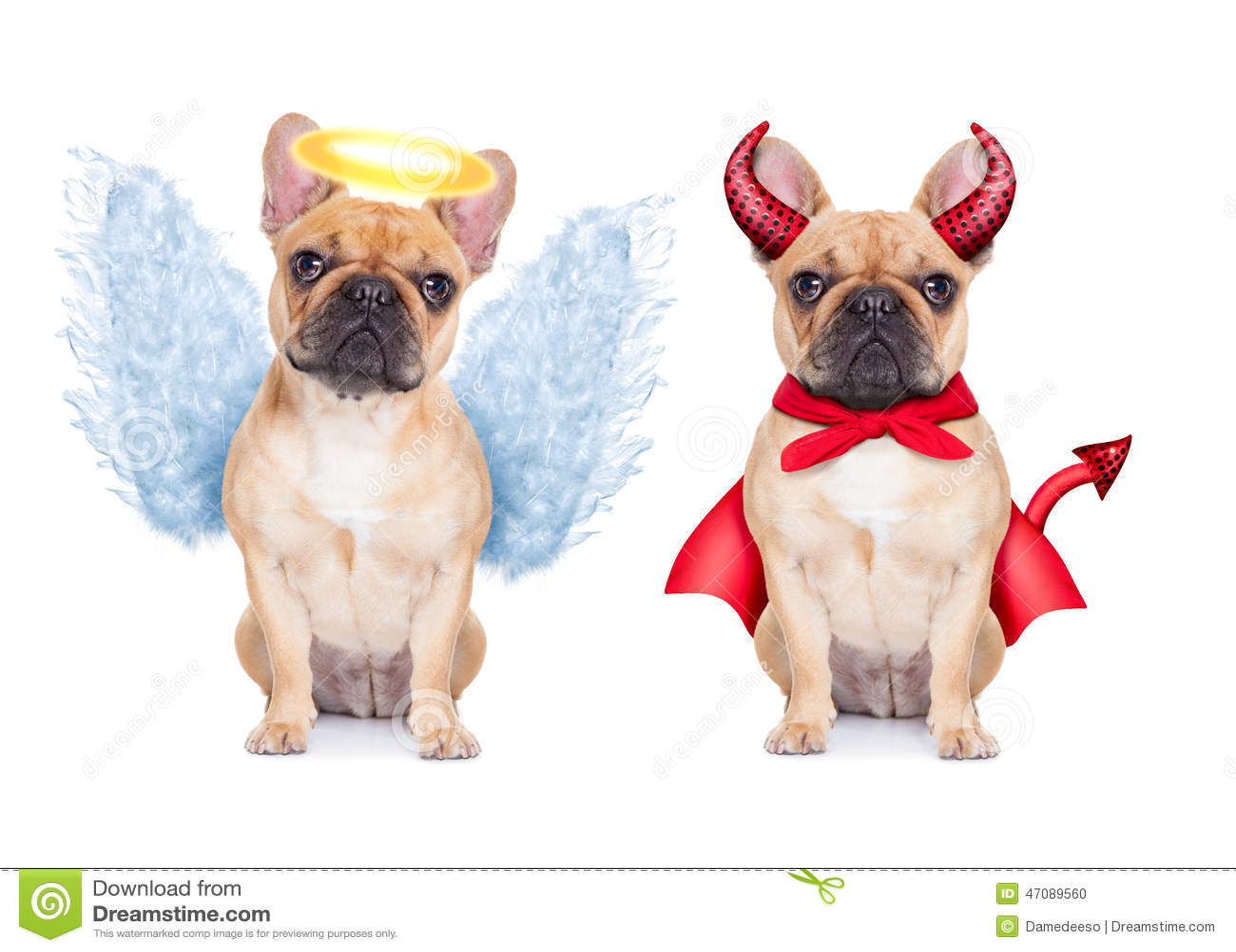 Diabo e anjo