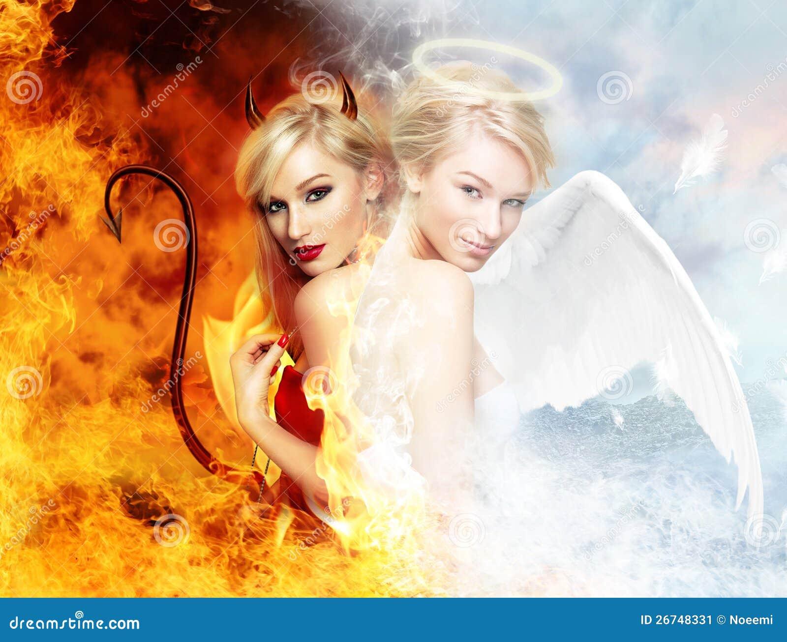 Diabo  sexy  contra o anjo lindo