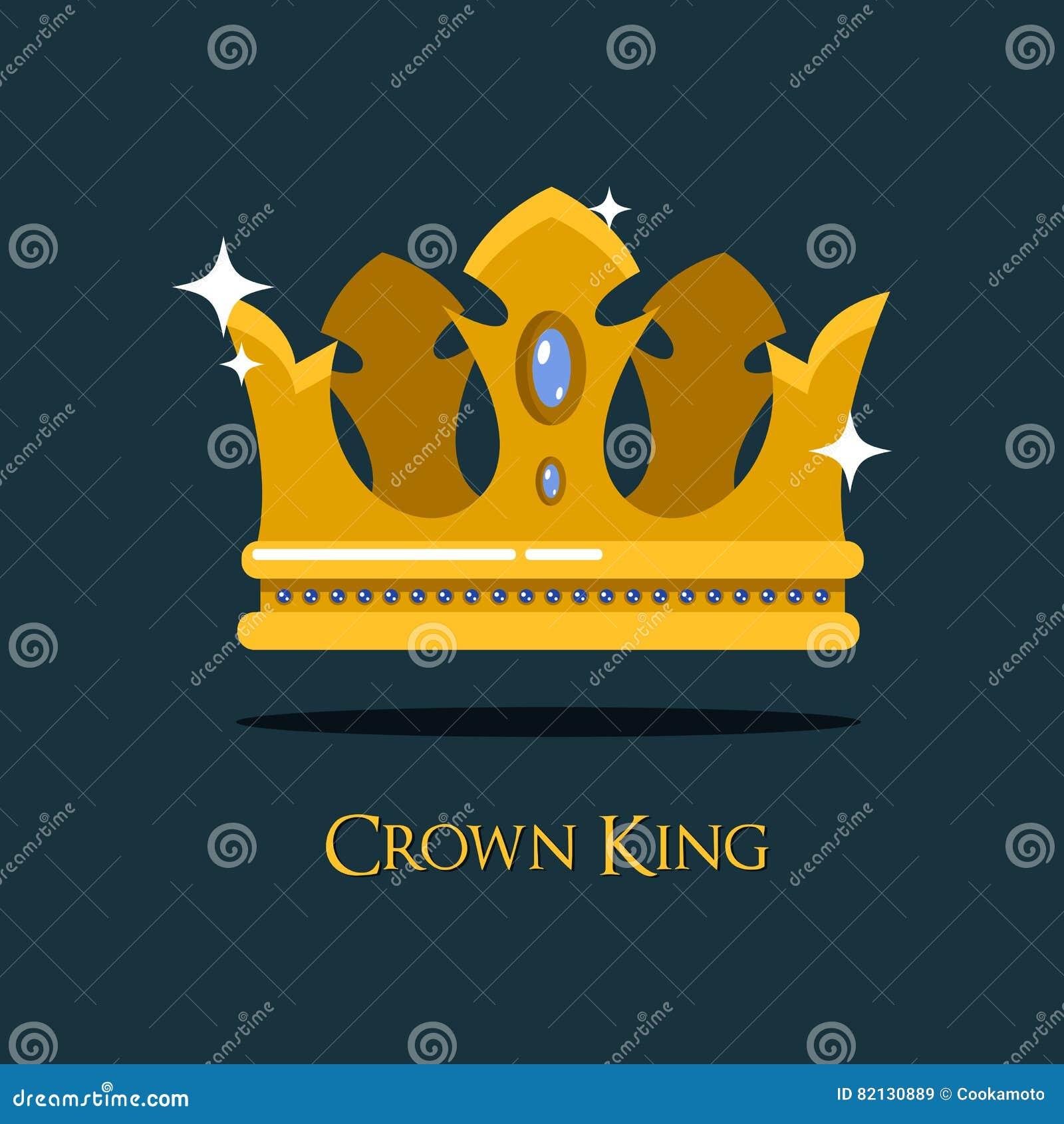 Diadem золота ферзя или короля или королевская крона