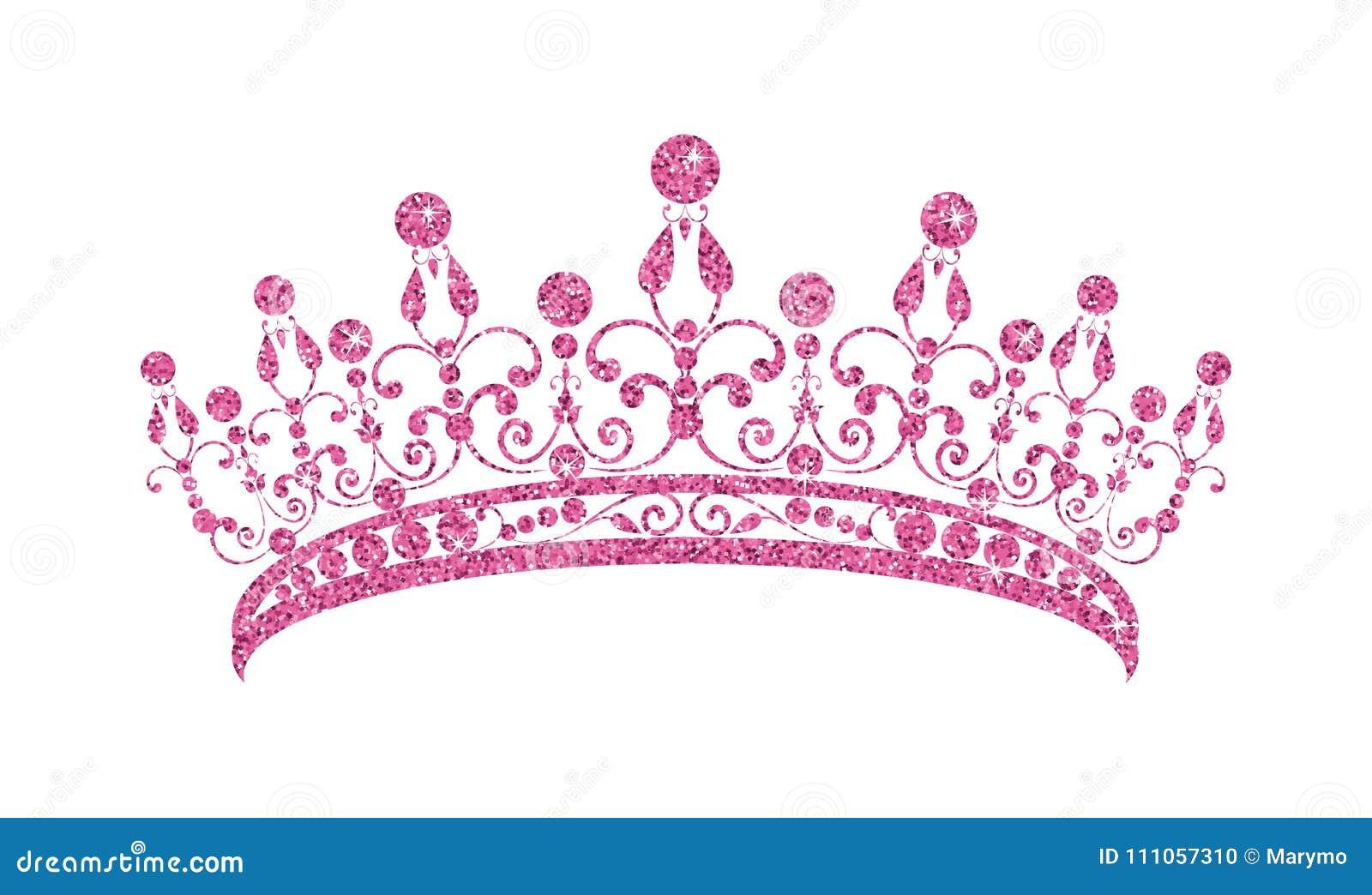 Inyección Manhattan paraguas  Diadema De Brilho Tiara Cor-de-rosa Isolada No Fundo Branco Ilustração do  Vetor - Ilustração de rosa, branco: 111057310