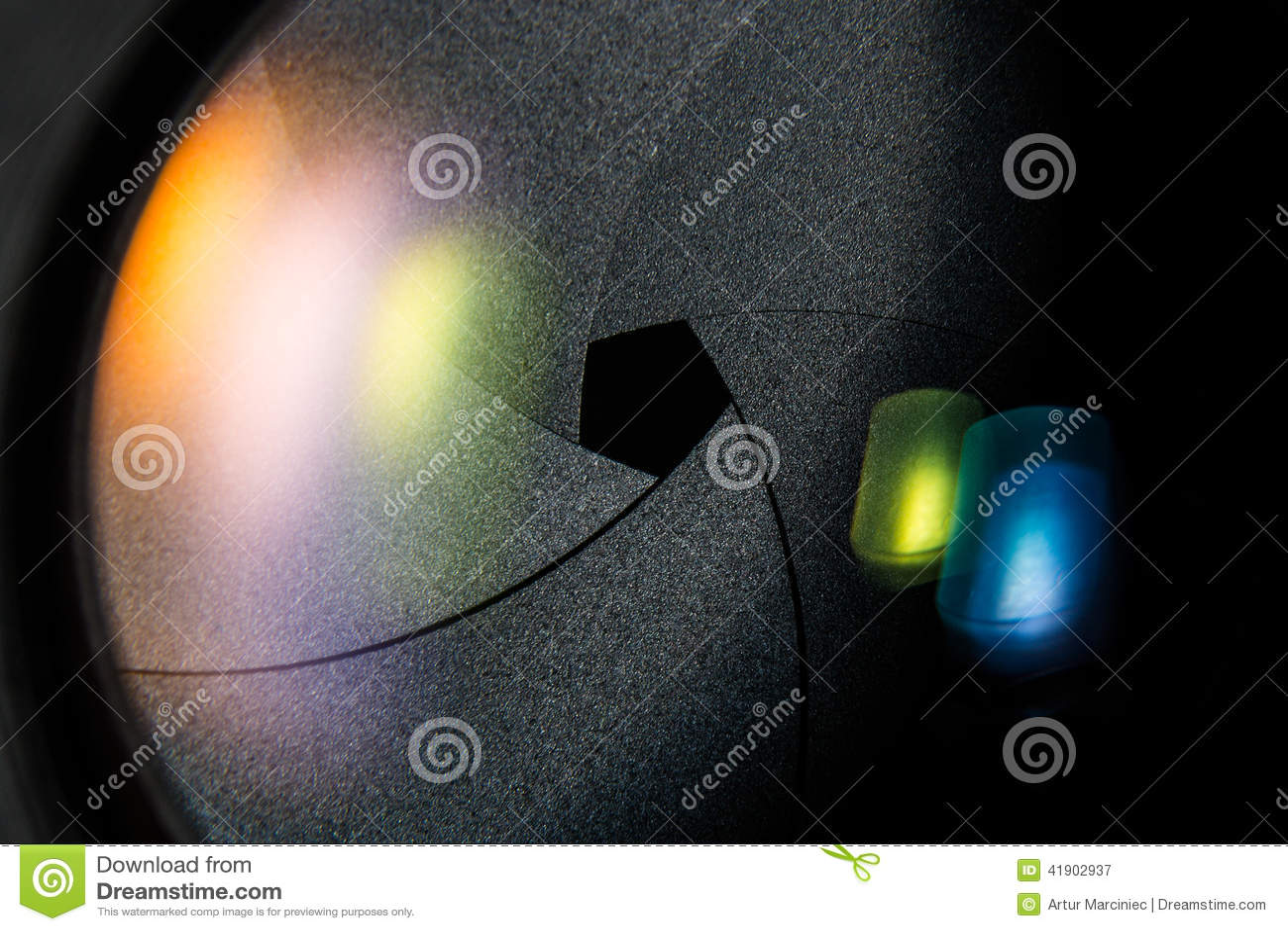 Diafragma de una abertura de lente de cámara