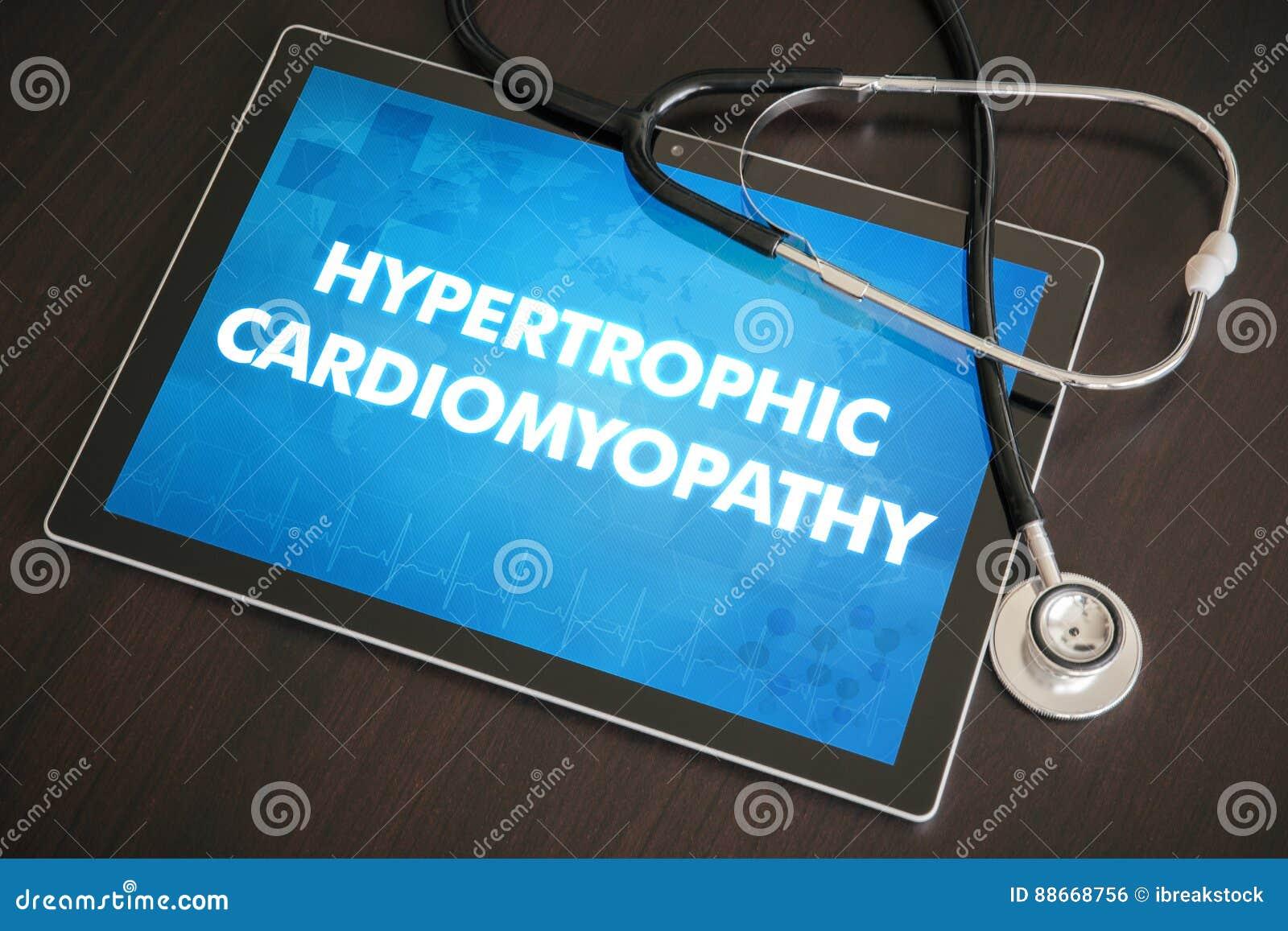 Diagnóstico Hypertrophic c médico da cardiomiopatia (desordem de coração)