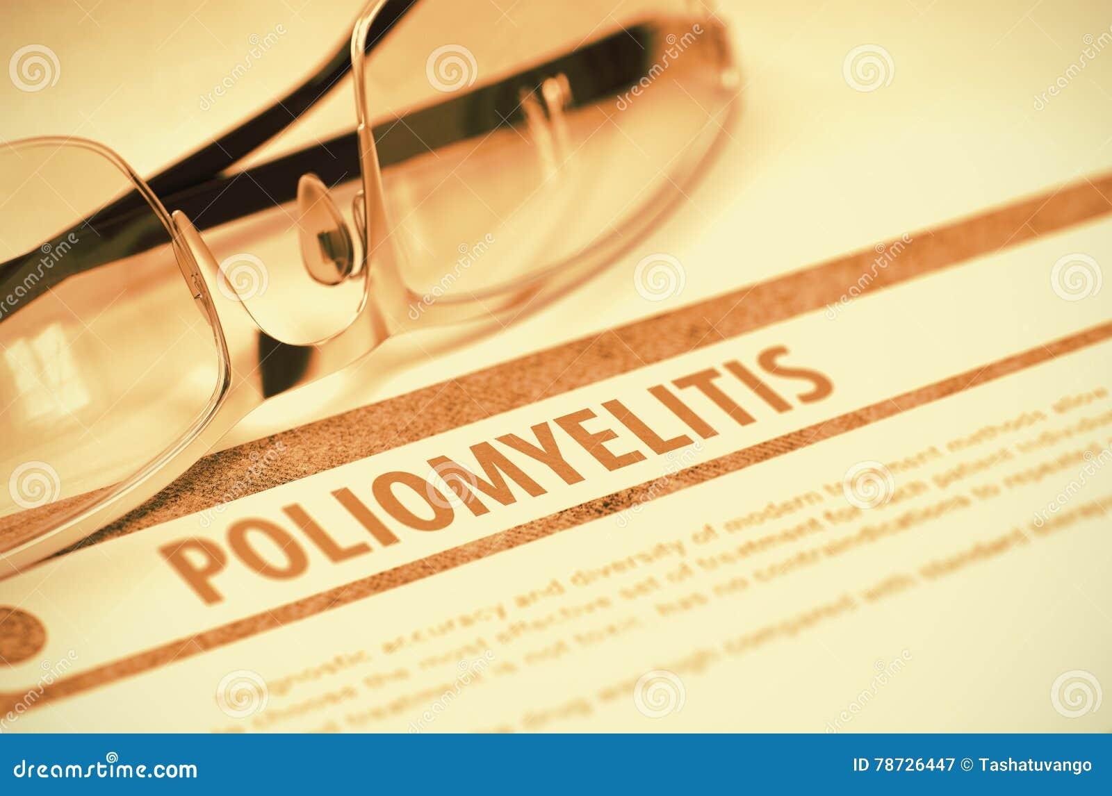 Diagnos - polio MEDICINSKT begrepp illustration 3d