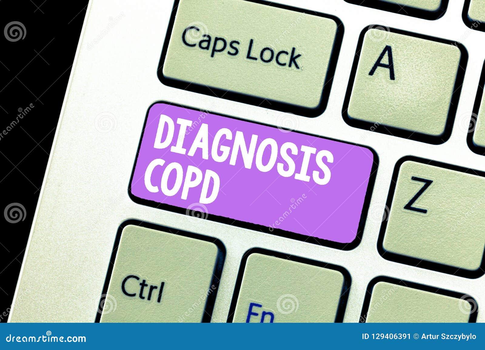 Diagnosi Copd del testo della scrittura Ostruzione di significato di concetto del flusso d aria del polmone che ostacola con la r