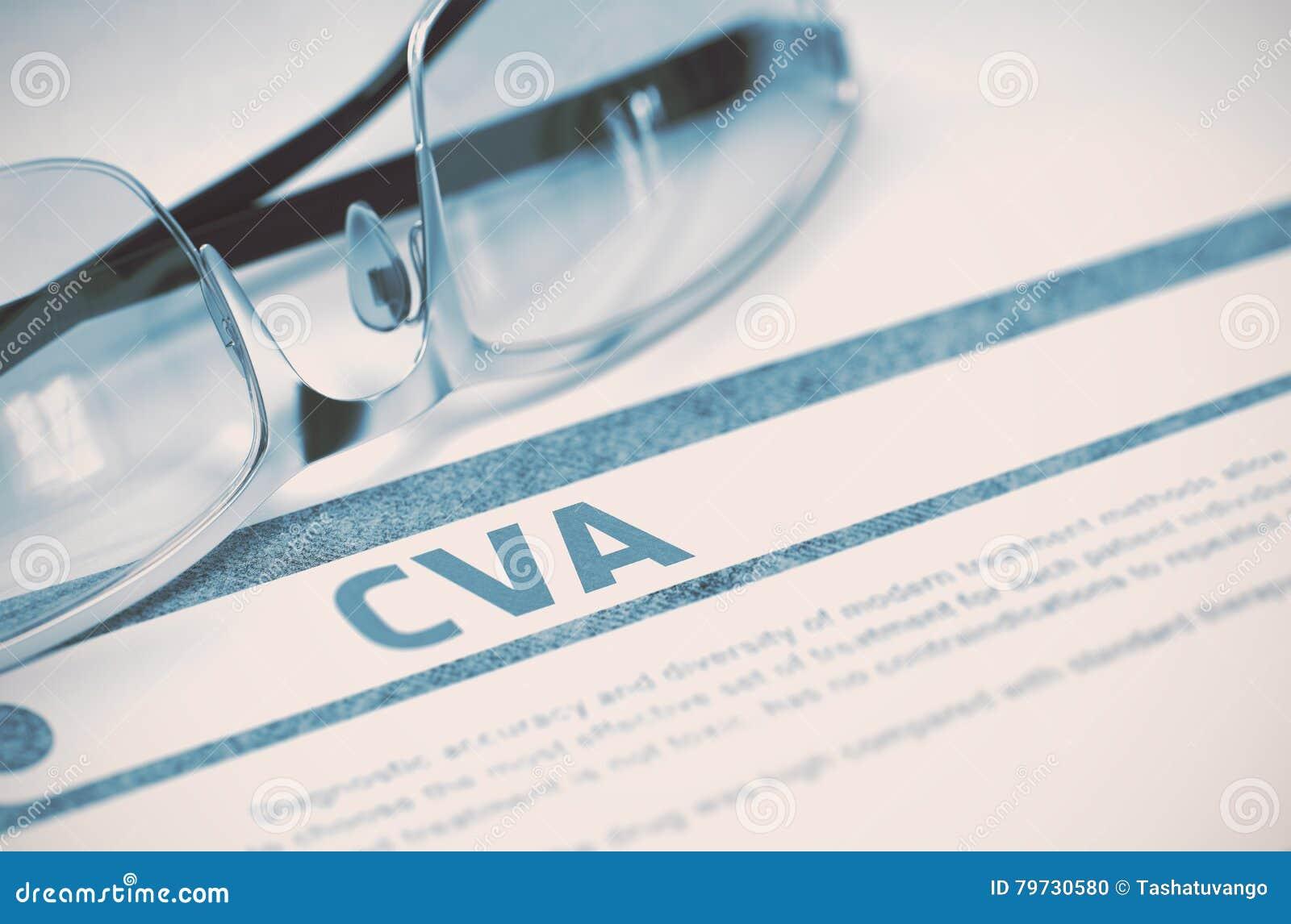 Diagnosis - CVA Concepto de la medicina ilustración 3D