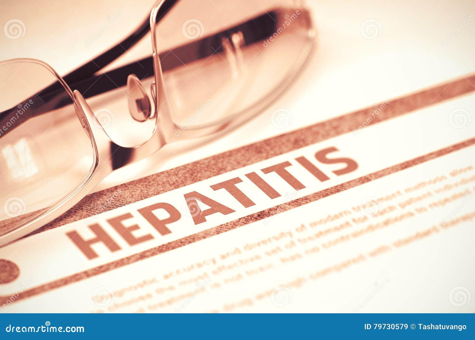 Diagnosis - hepatitis Concepto de la medicina ilustración 3D