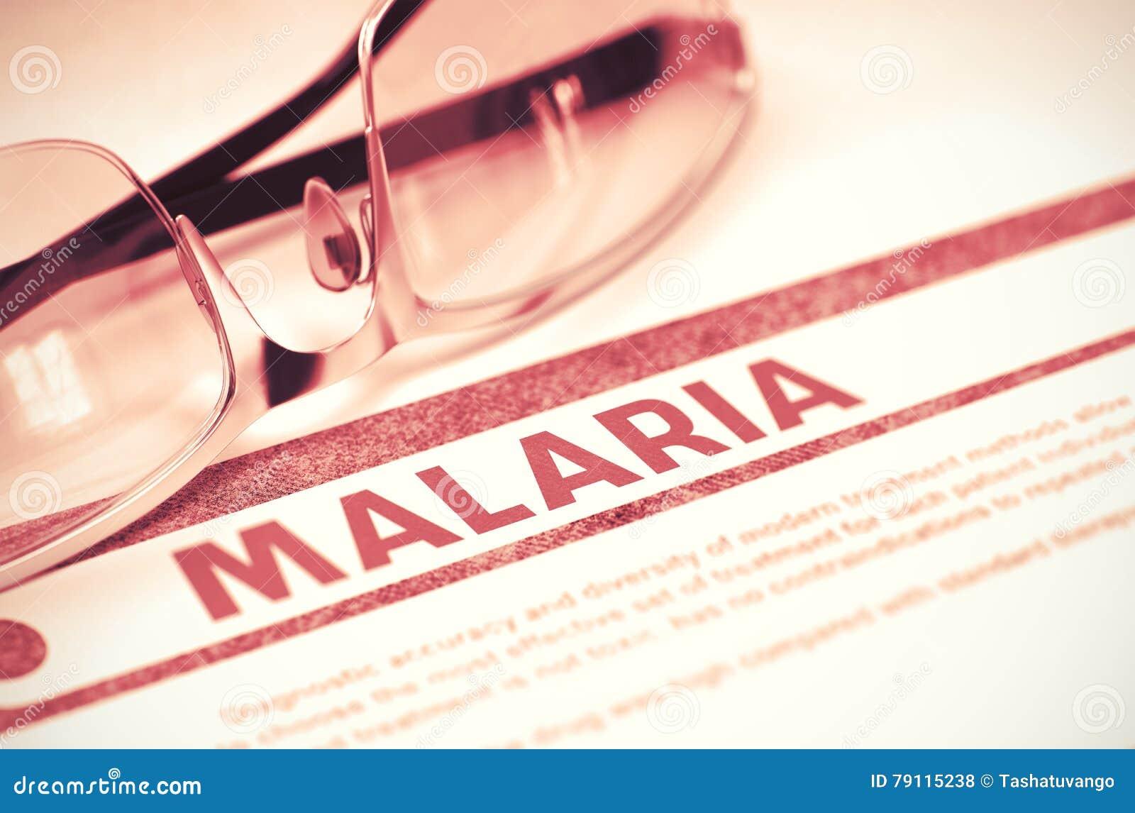 Diagnosis - malaria Concepto de la medicina ilustración 3D