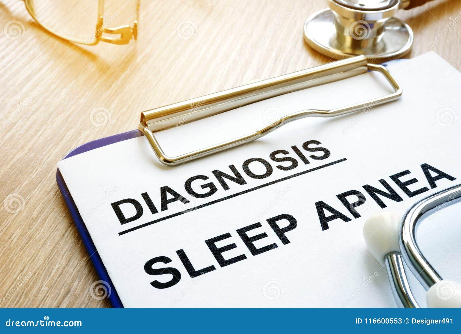 Diagnostic d apnée du sommeil sur un presse-papiers