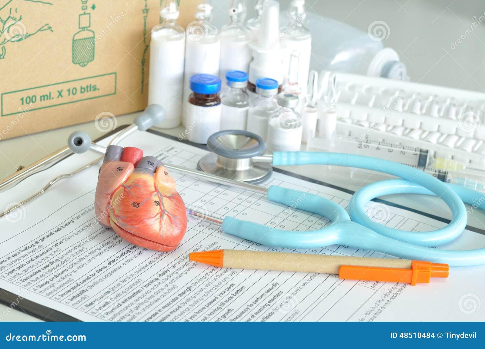 Diagnostic de coeur humain