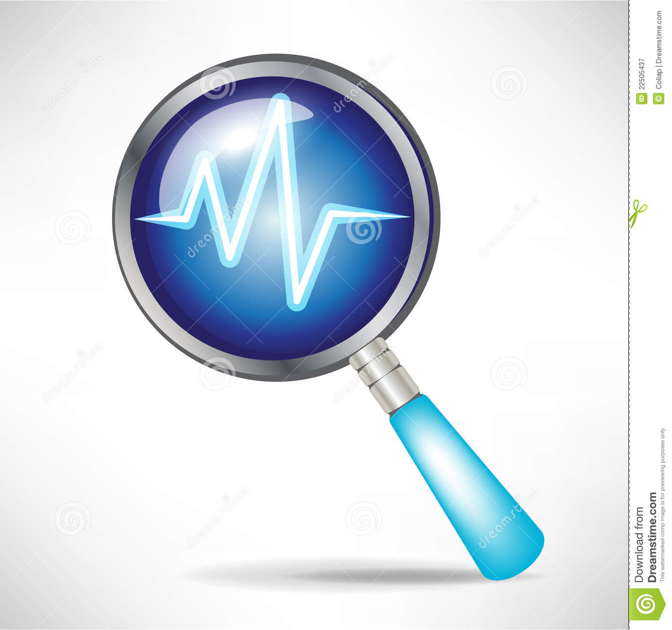Diagnostic Icon Royalty Free Stock Photography - Image: 22505437