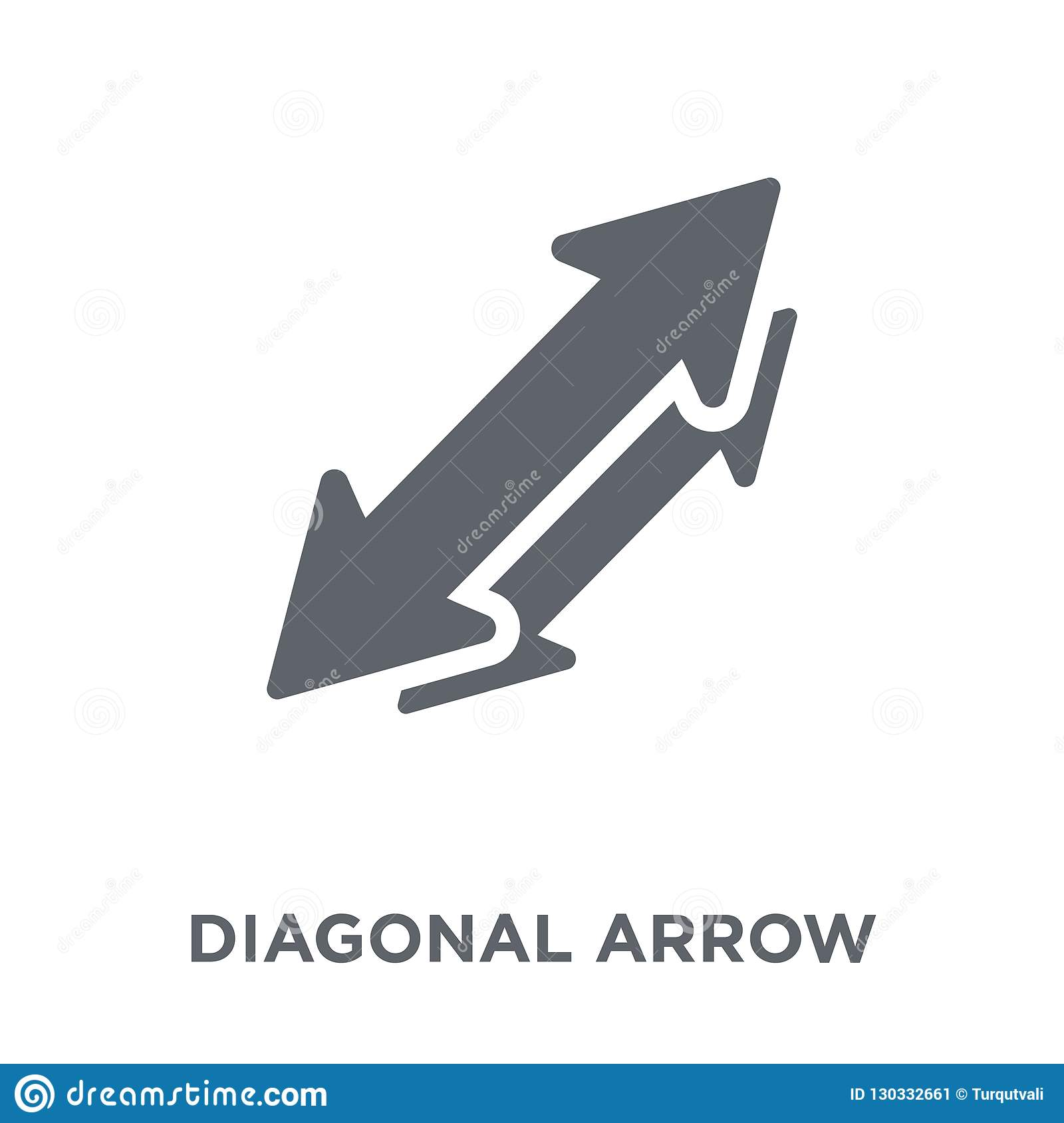 Diagonal arrow icon from collection.