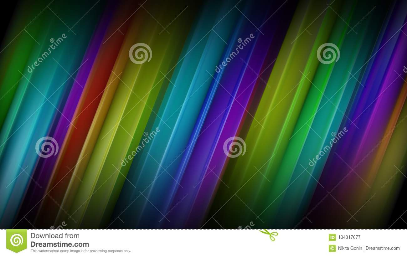 Diagonal colorful lines abstract 3D rendering