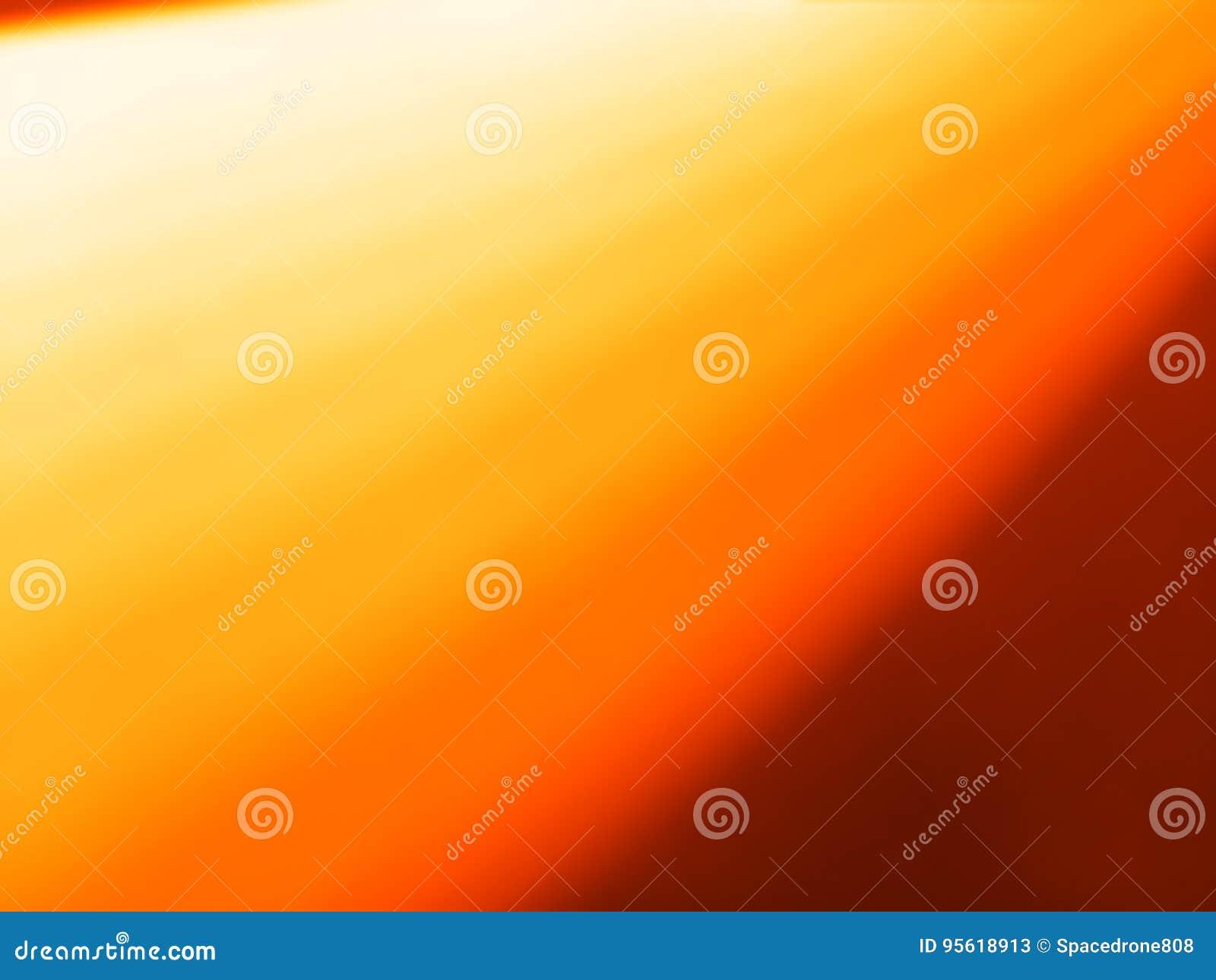 Diagonal Orange Light Leak Bokeh Background Stock