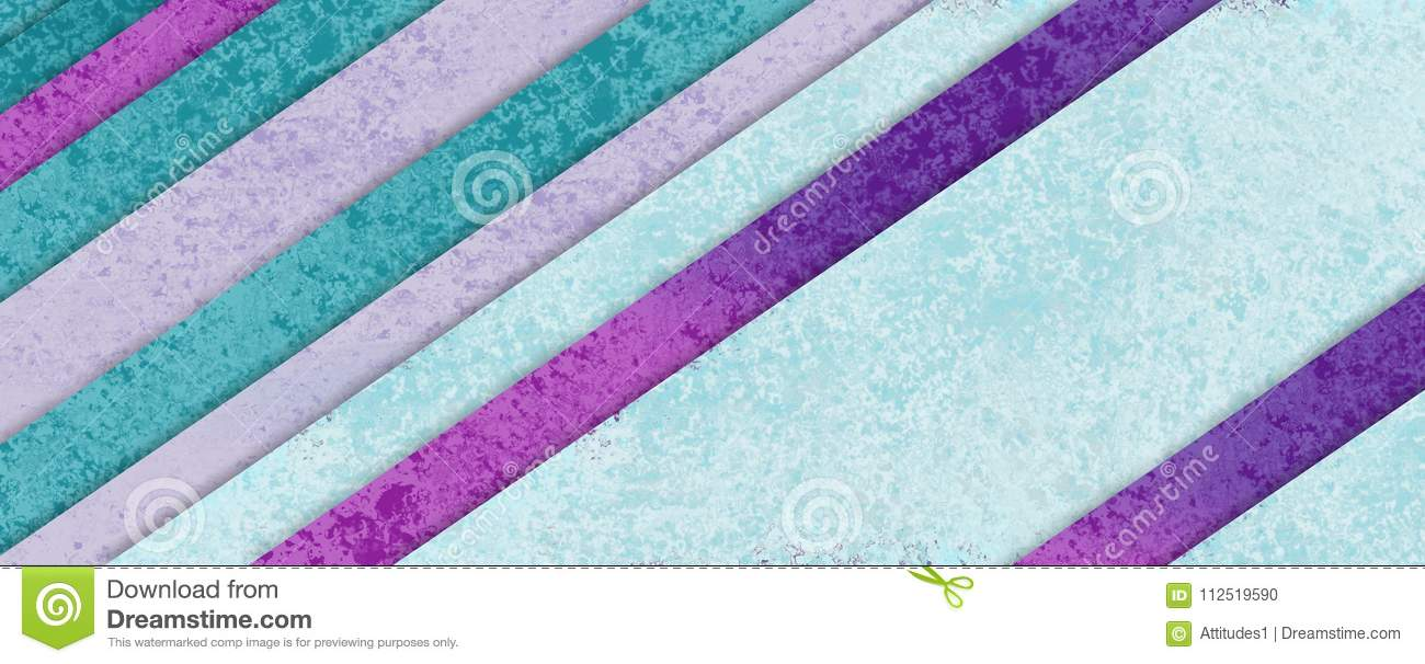 Diagonal stripe pattern in pastel blue green purple and pink material design with layers of shapes, abstract background