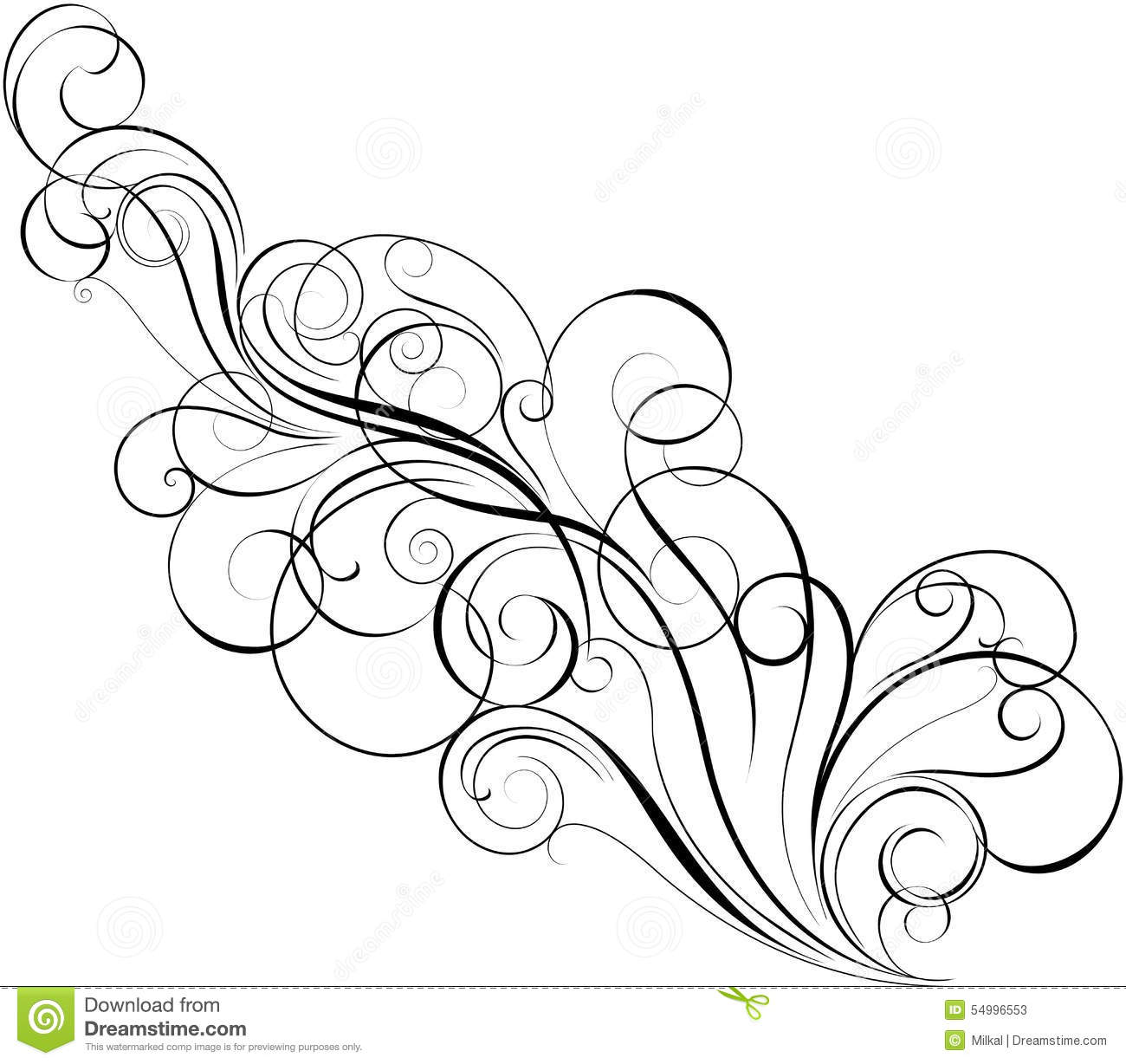 Diagonal Swirl Design Stock Vector Illustration Of Ancient 54996553