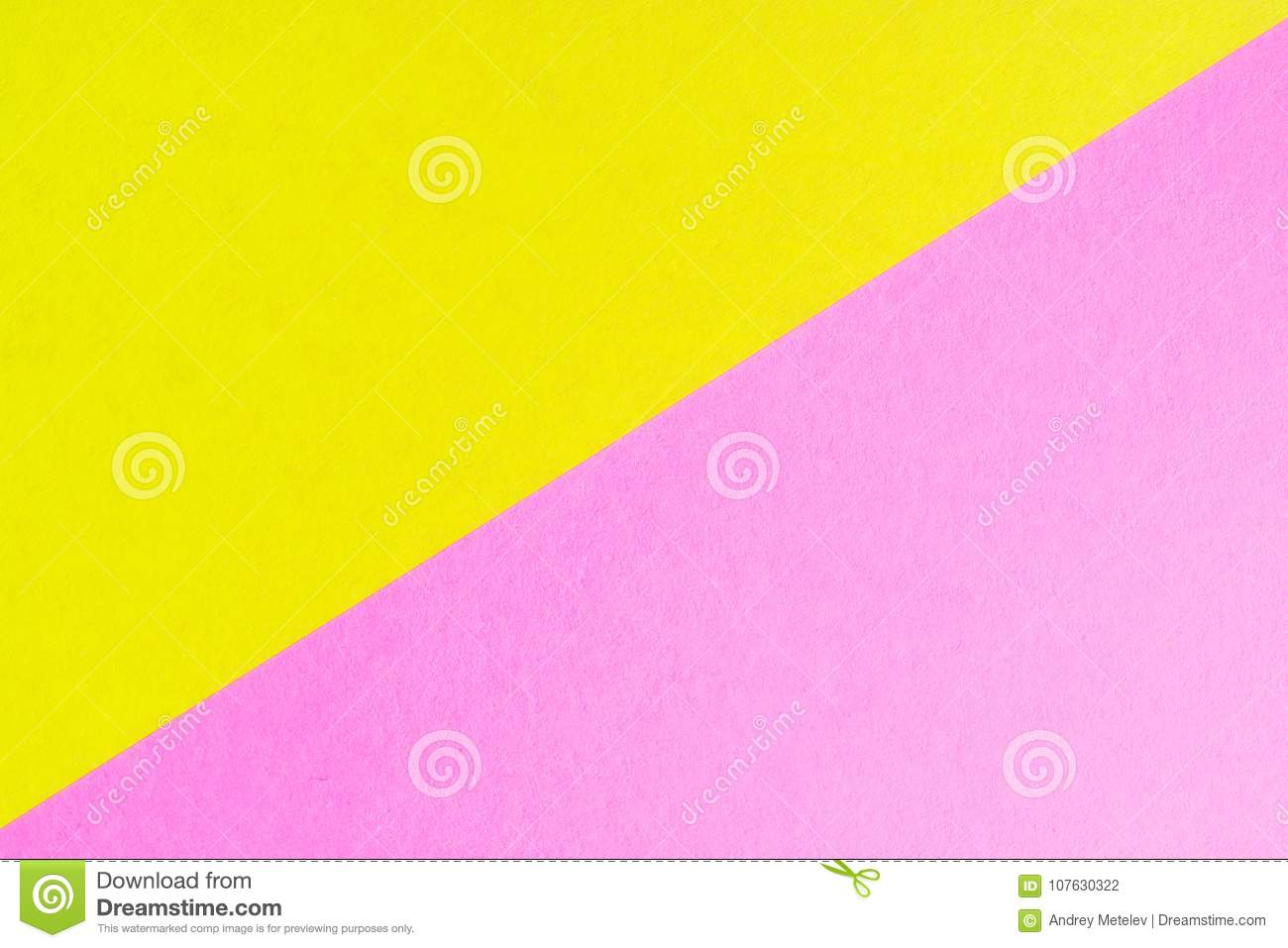 The Diagonal Of The Two Colored Sheets Of Paper Of Different Colors ...